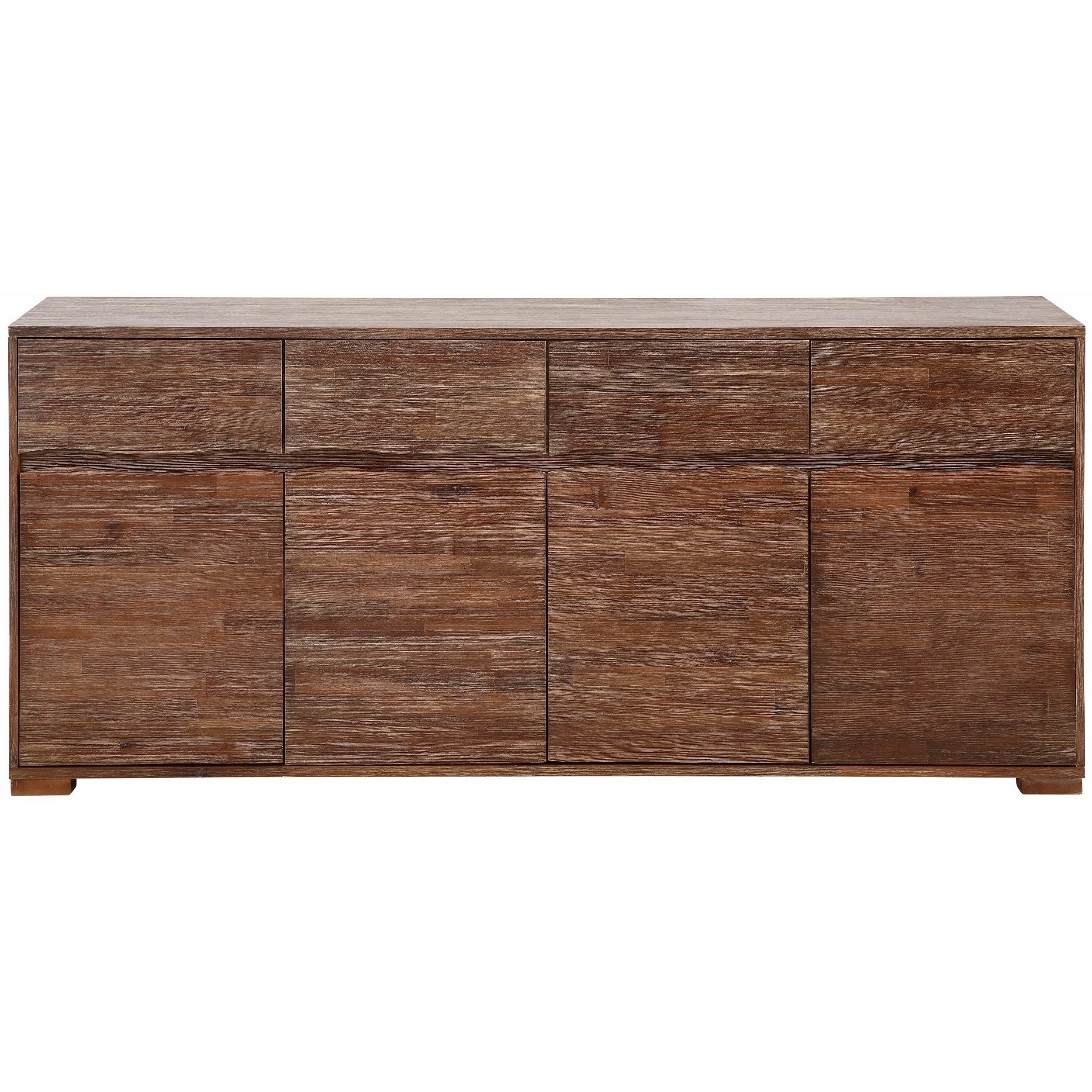 Featured Photo of Acacia Wood 4 Door Sideboards