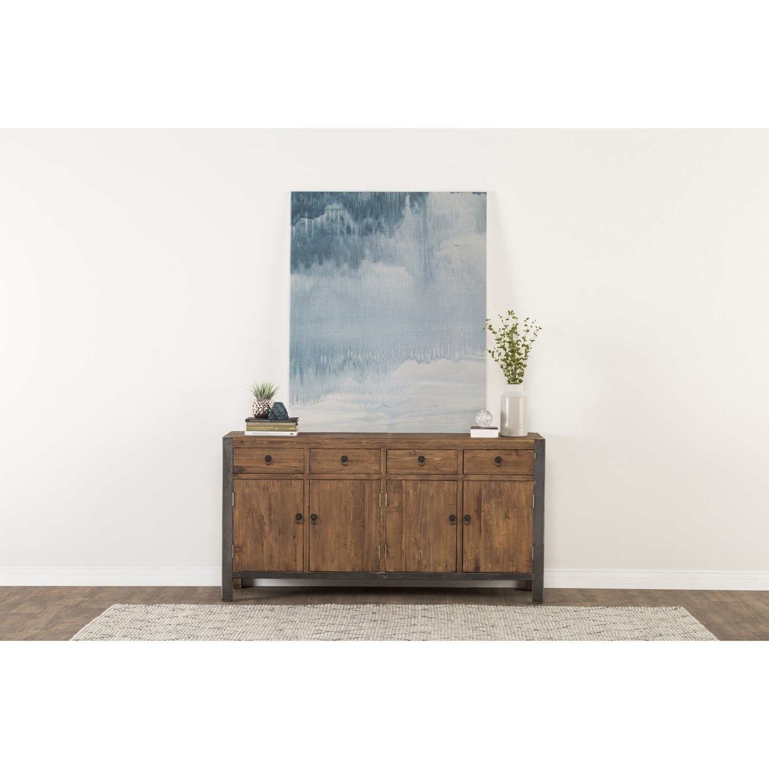 Shop Willow Reclaimed Wood And Iron 70-Inch Buffetkosas Home in Reclaimed Pine & Iron 72 Inch Sideboards (Image 25 of 30)