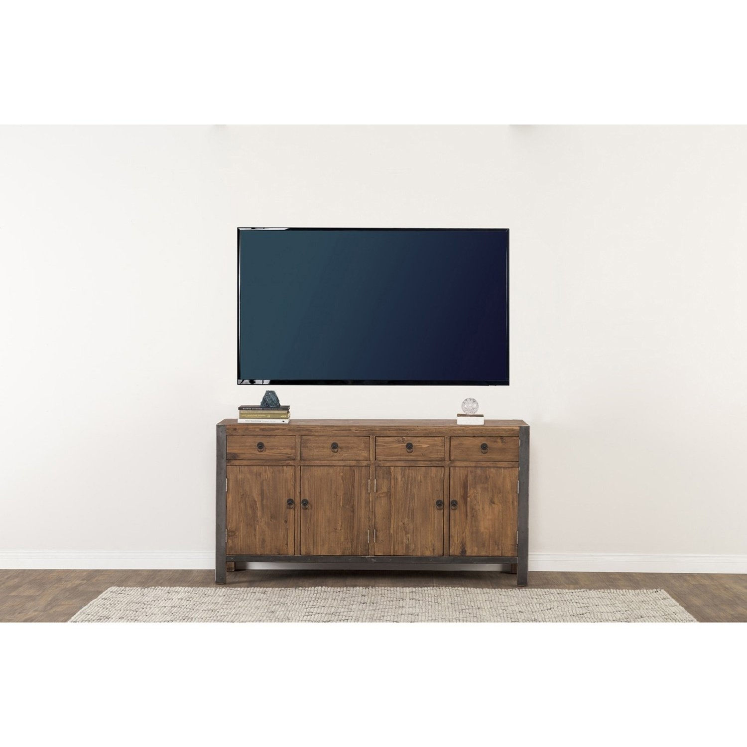 Shop Willow Reclaimed Wood And Iron 70-Inch Buffetkosas Home regarding Reclaimed Elm 71 Inch Sideboards (Image 23 of 30)