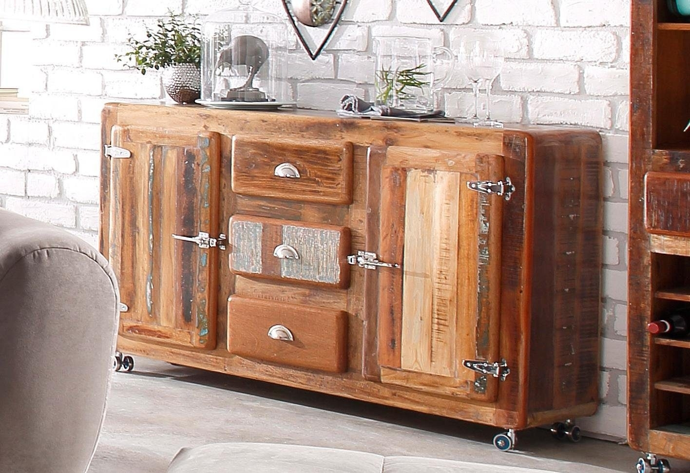 Sideboard 'fridge' - Mygermany intended for Reclaimed 3 Drawer Icebox Sideboards (Image 24 of 30)