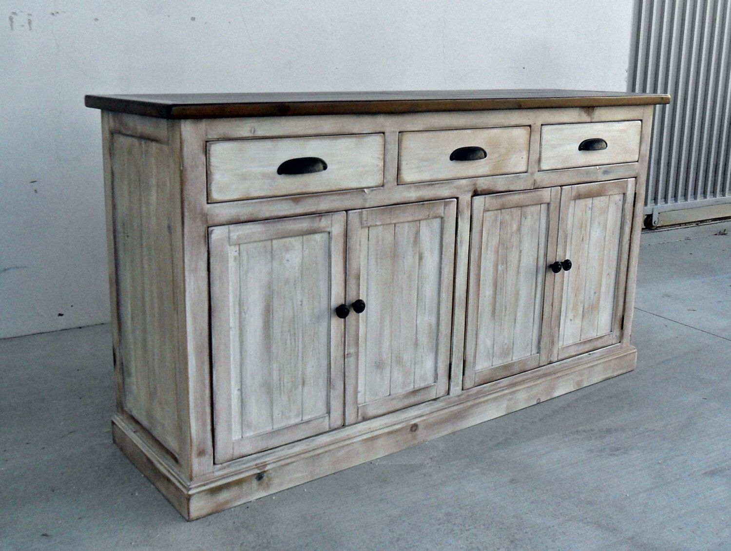 Sideboard, Server, Console Cabinet, Reclaimed Wood, Buffet, Vintage inside Reclaimed Pine Turquoise 4-Door Sideboards (Image 25 of 30)