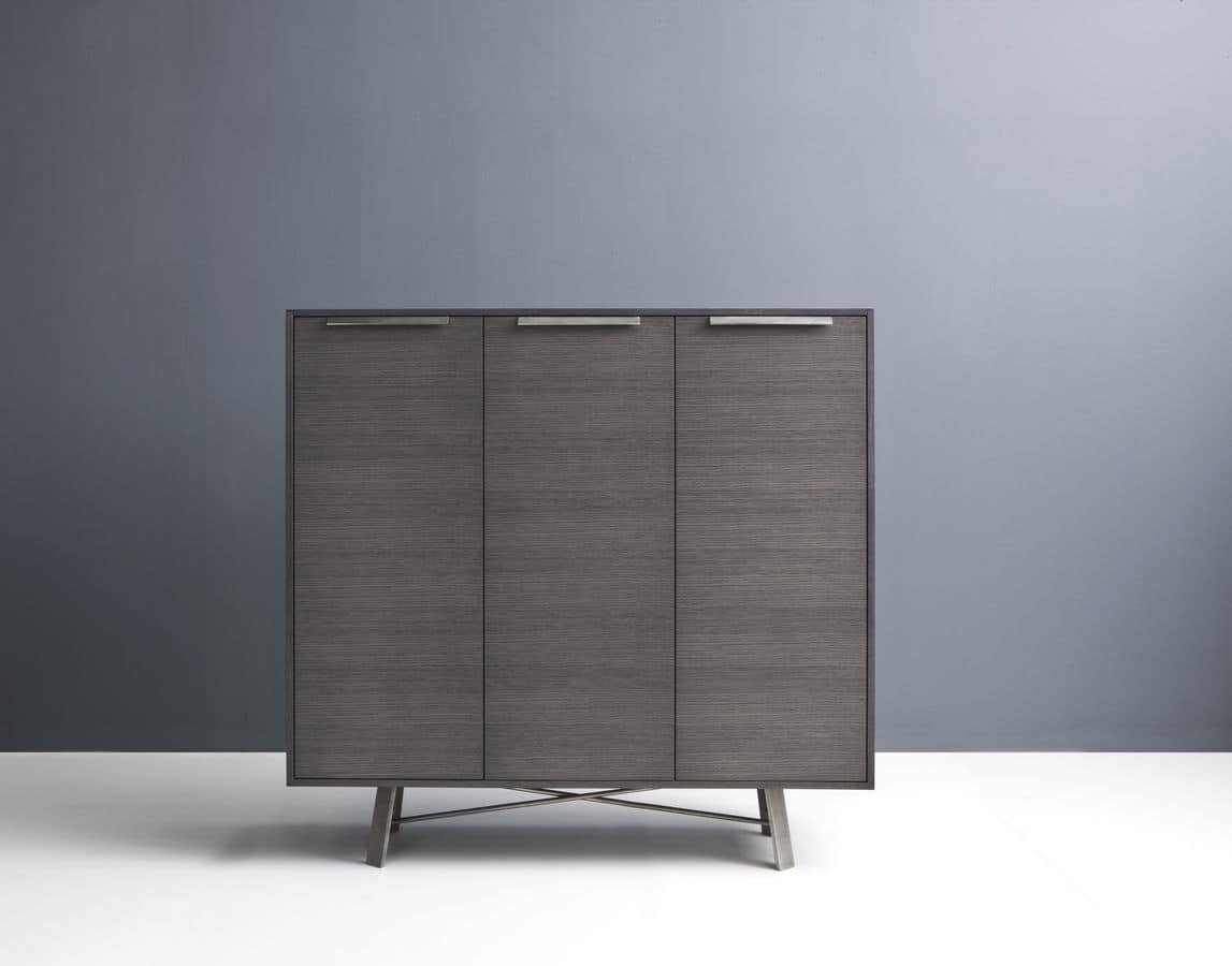 Sideboard With 3 Doors Suited For Modern Environments | Idfdesign within 3-Door 3-Drawer Metal Inserts Sideboards (Image 23 of 30)
