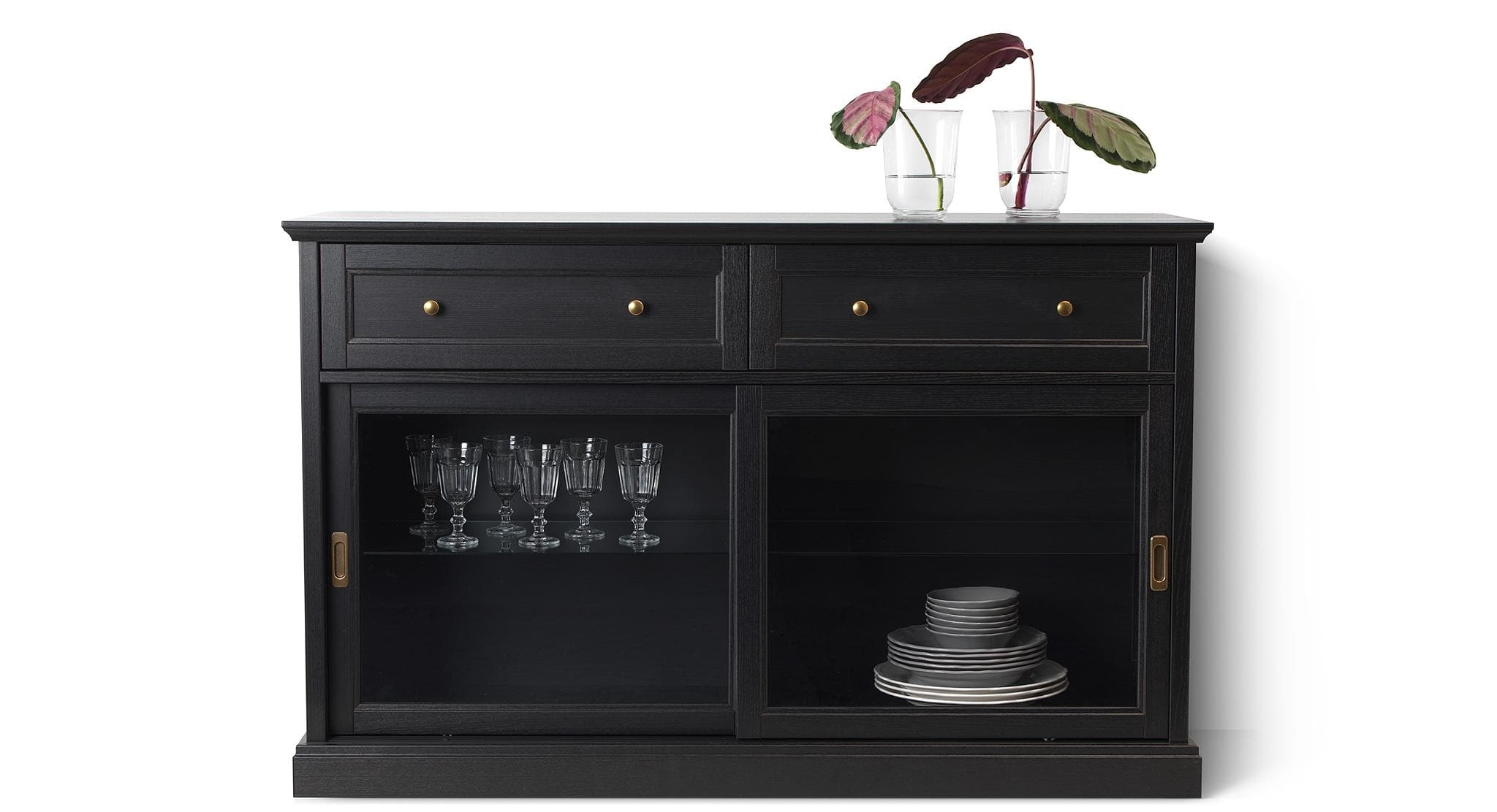 Sideboards & Buffet Cabinets | Ikea in Blue Stone Light Rustic Black Sideboards (Image 25 of 30)