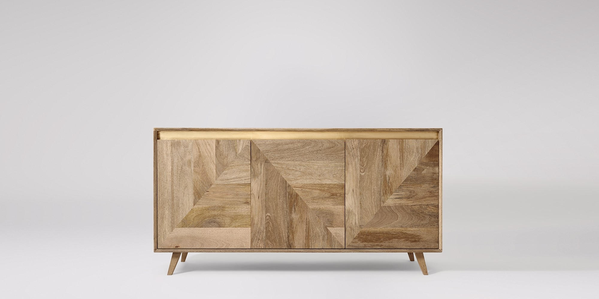 Sideboards | Buffets & Credenzas | Swoon | Swoon with 4 Door Wood Squares Sideboards (Image 29 of 30)