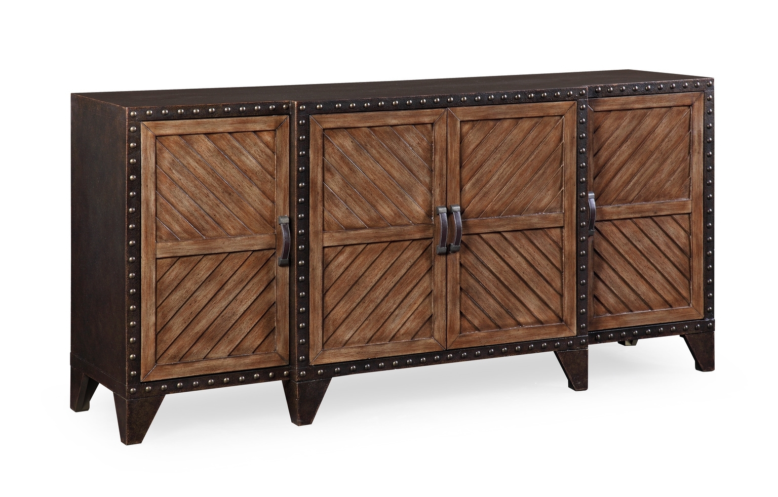Sideboards, Cabinets, Shelving intended for Black Oak Wood and Wrought Iron Sideboards (Image 24 of 30)