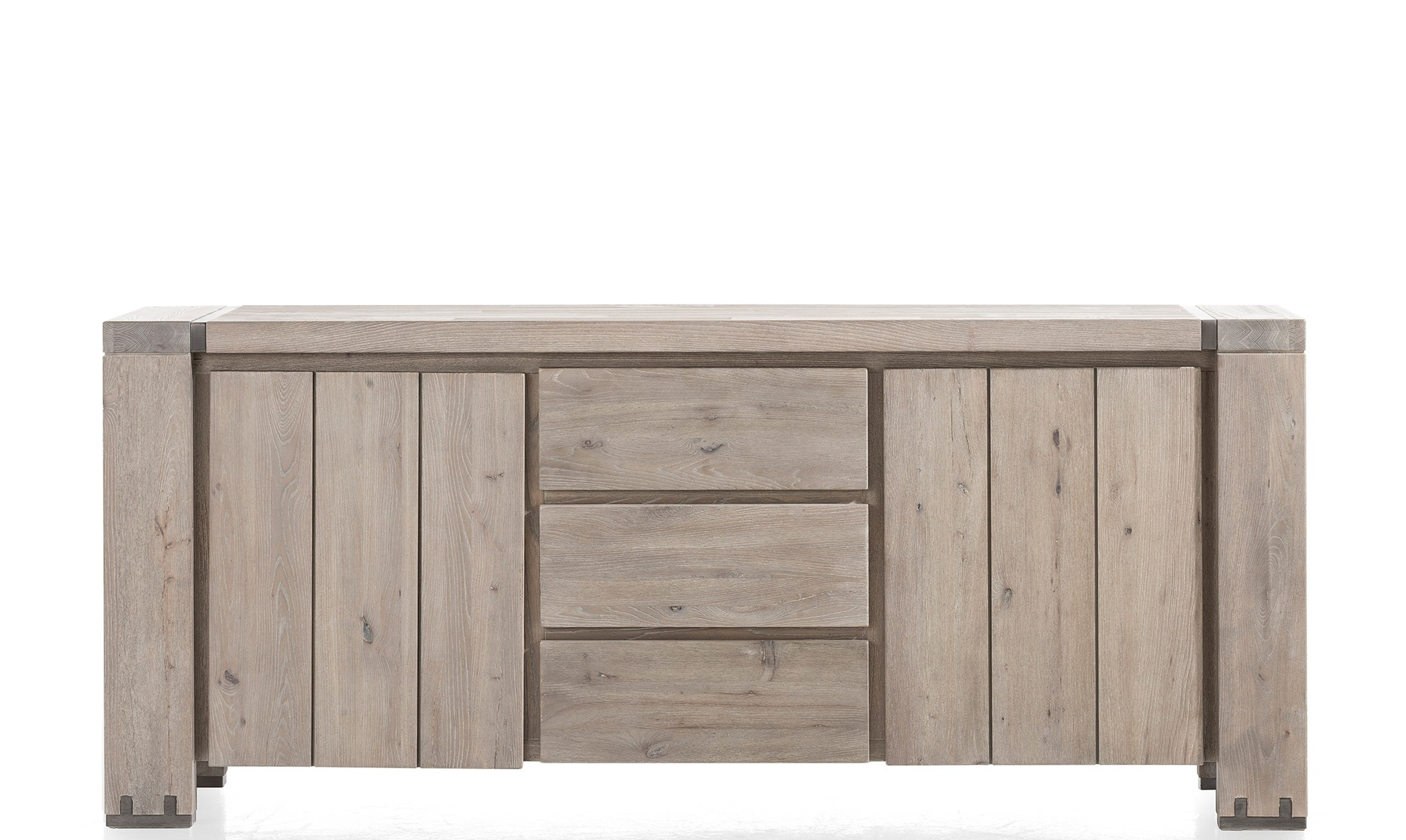 Sideboards - Modern, Oak & Pine Sideboards - Fishpools pertaining to White Wash 4-Door Sideboards (Image 18 of 30)