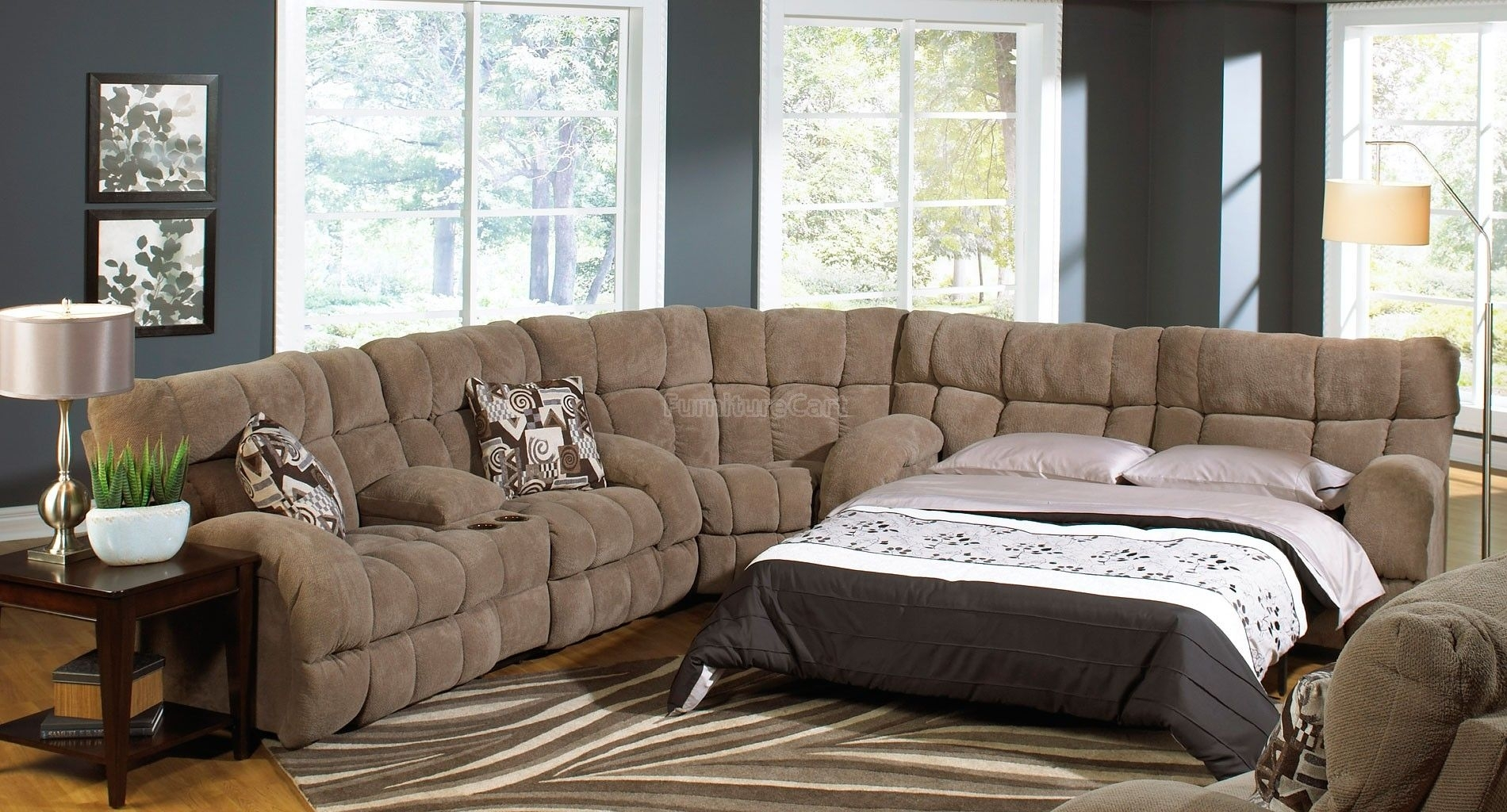 Siesta Reclining Sectional W/ Sleeper (Porcini) | Pinterest with Jackson 6 Piece Power Reclining Sectionals With  Sleeper (Image 26 of 30)