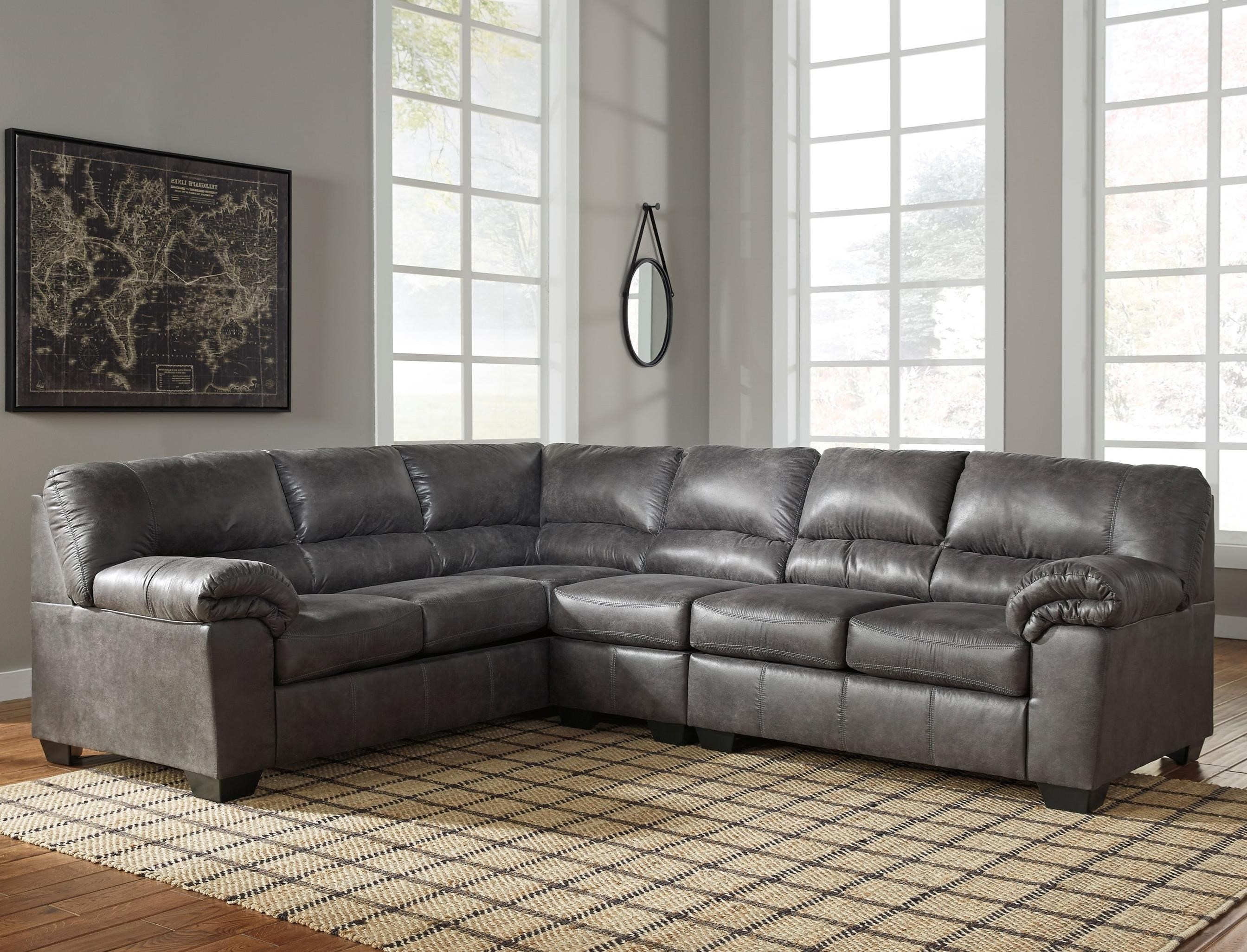 Signature Designashley Bladen 3 Piece Sectional | Northeast Pertaining To Sierra Down 3 Piece Sectionals With Laf Chaise (View 27 of 30)