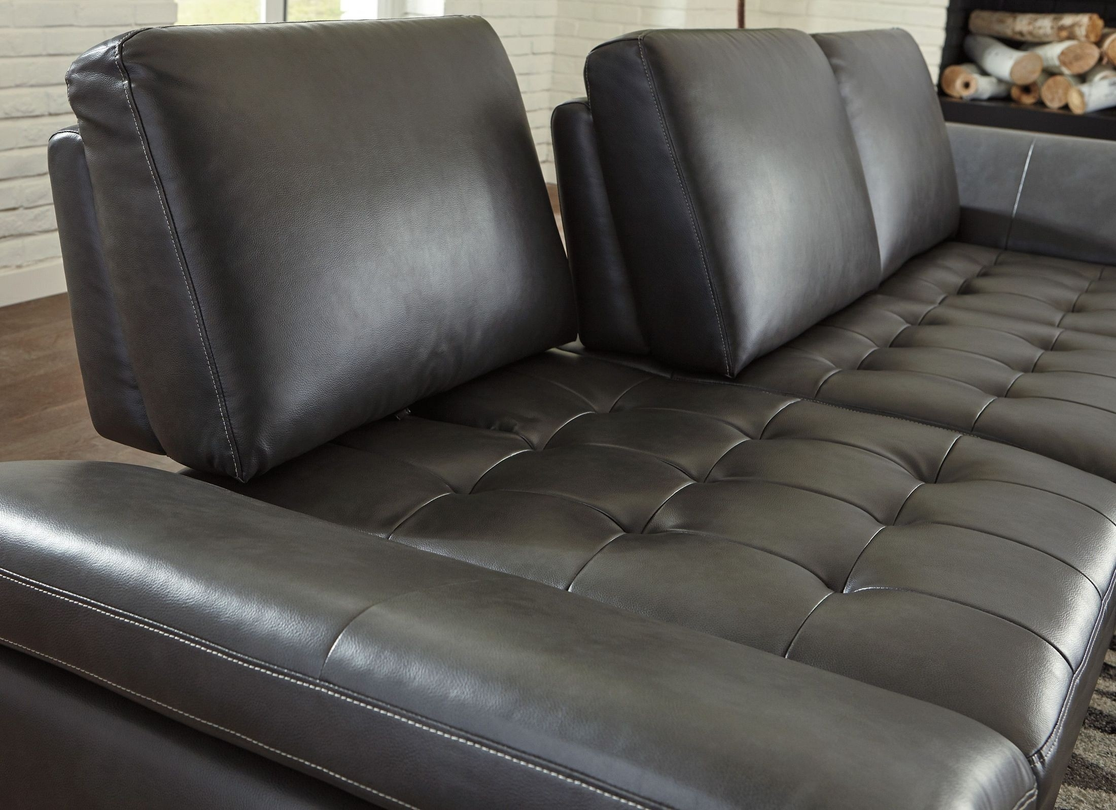 Signature Designashley Carrnew Gray Laf Sectional - Carrnew inside Tess 2 Piece Power Reclining Sectionals With Laf Chaise (Image 15 of 30)