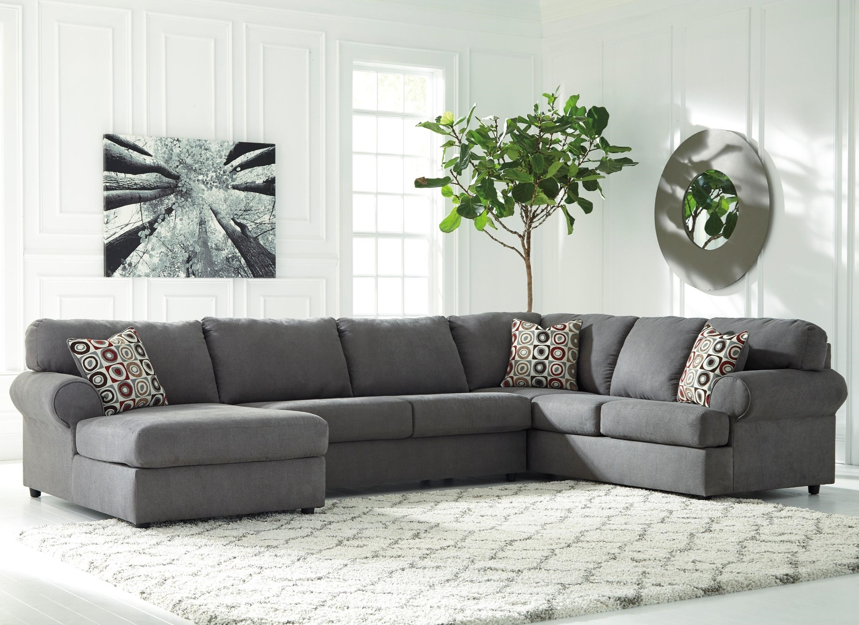 Signature Designashley Jayceon 3-Piece Sectional With Left inside Cosmos Grey 2 Piece Sectionals With Laf Chaise (Image 22 of 30)