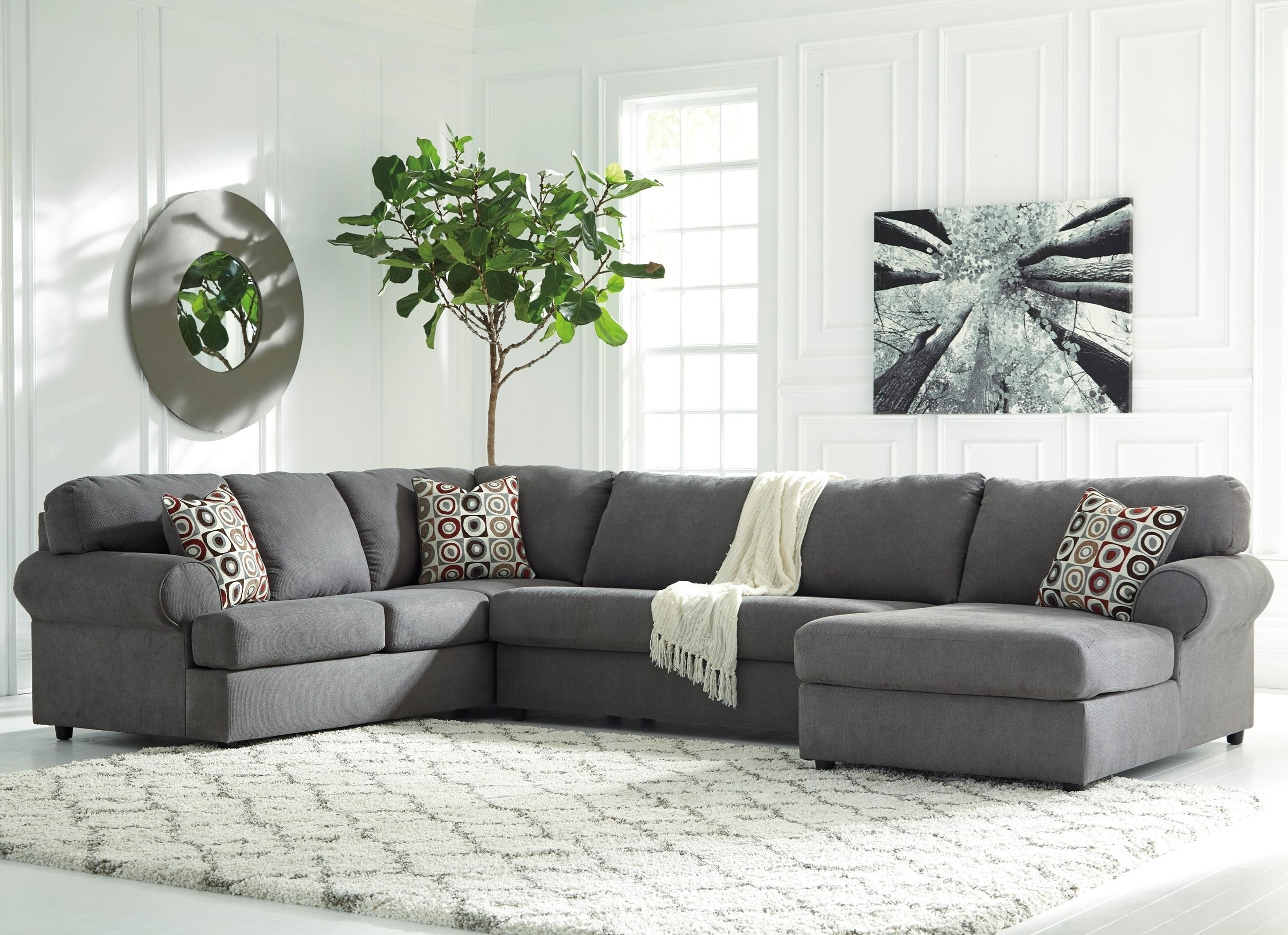Signature Designashley Jayceon 3-Piece Sectional With Right throughout Benton 4 Piece Sectionals (Image 29 of 30)
