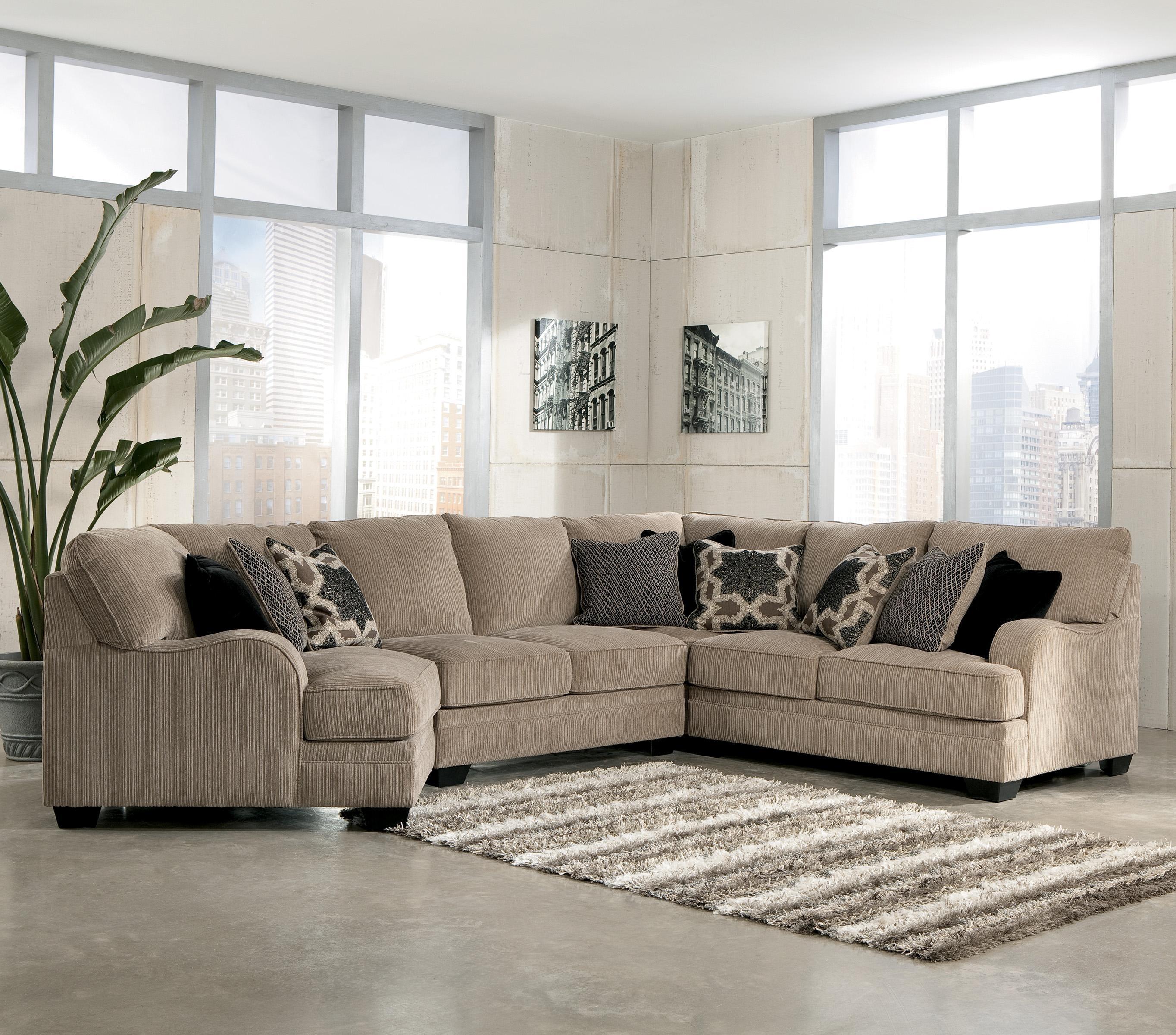 Signature Designashley Katisha - Platinum 4-Piece Sectional Sofa throughout Blaine 4 Piece Sectionals (Image 26 of 30)