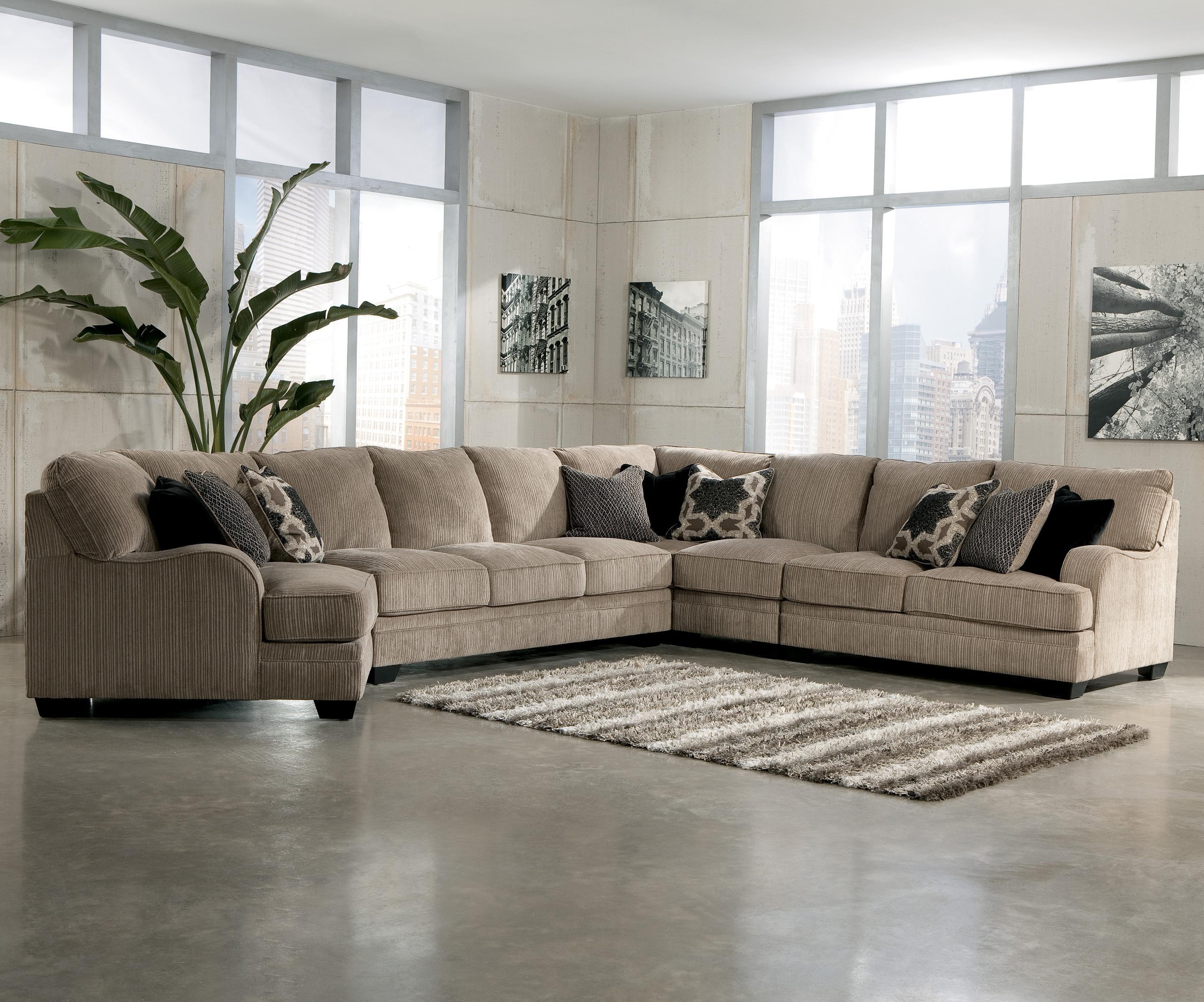 Signature Designashley Katisha - Platinum 5-Piece Sectional Sofa regarding Blaine 4 Piece Sectionals (Image 27 of 30)