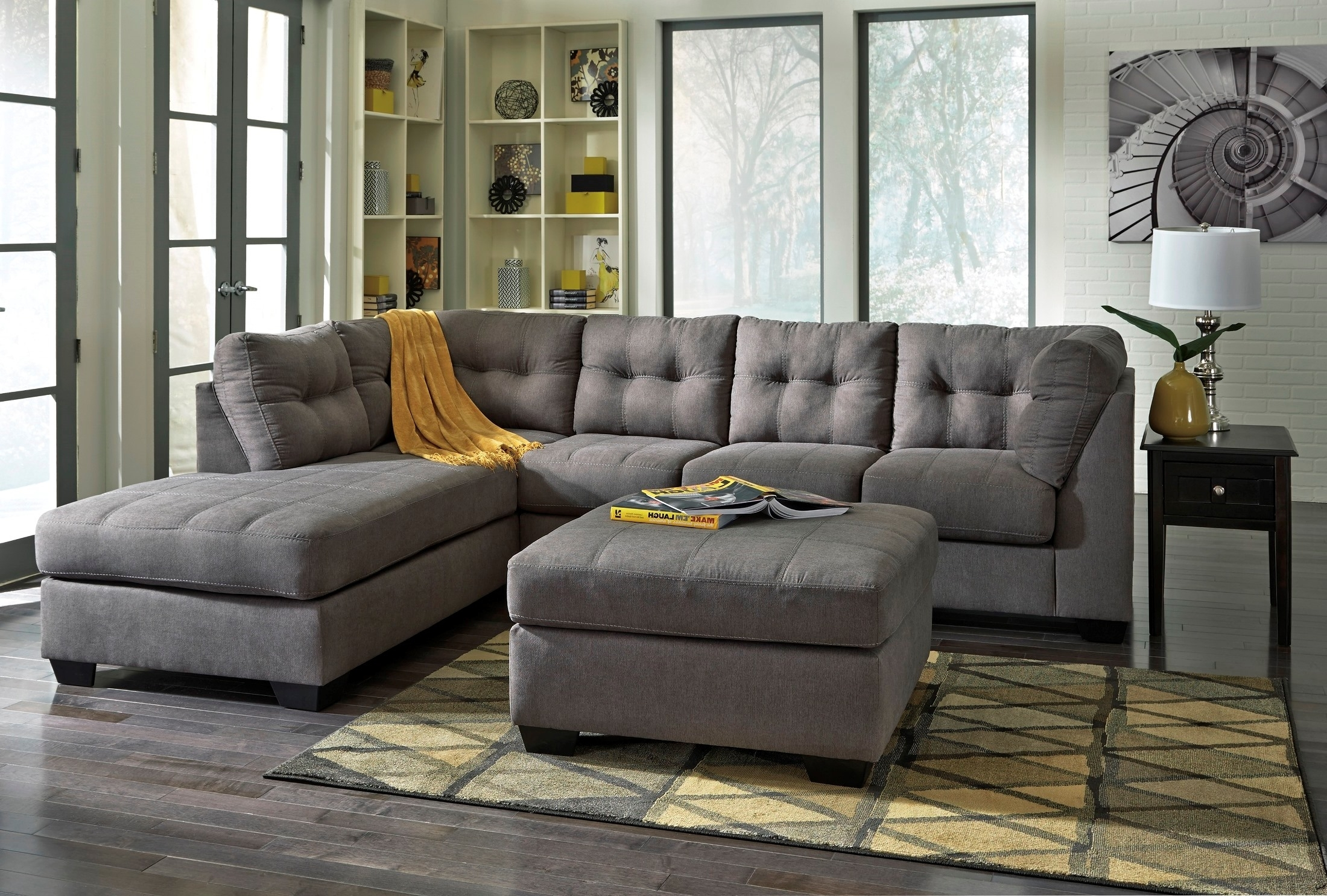 Signature Designashley Maier Charcoal Laf Sectional - Maier within Tess 2 Piece Power Reclining Sectionals With Laf Chaise (Image 18 of 30)