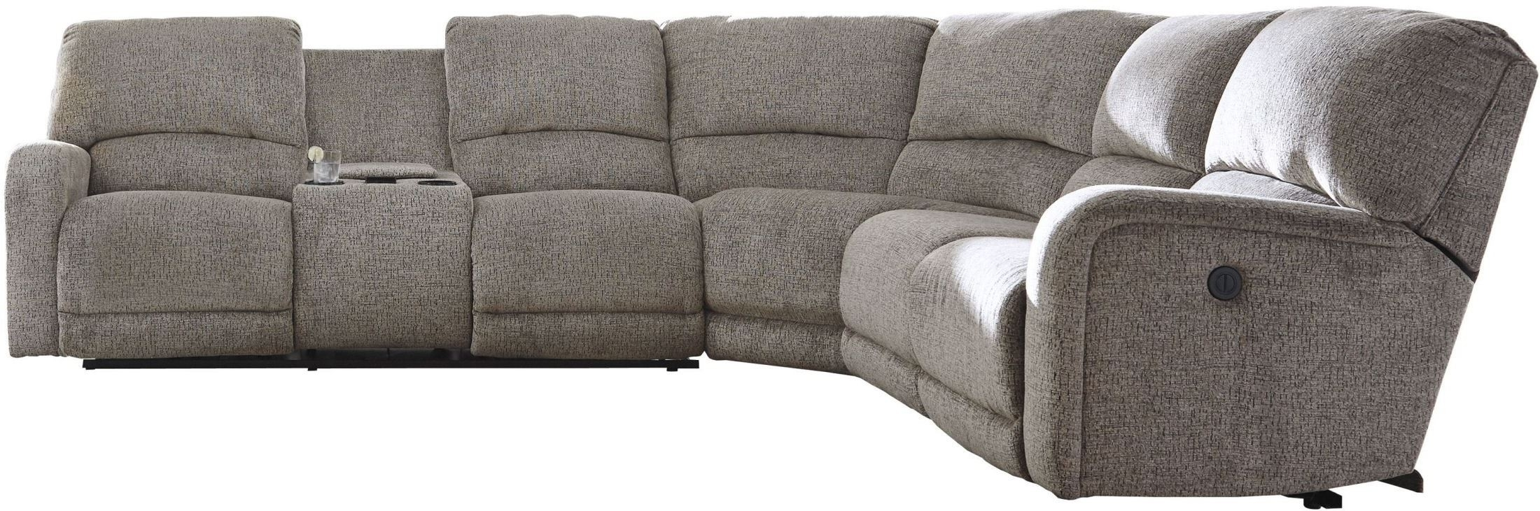 Signature Designashley Pittsfield Fossil Raf Power Reclining in Tess 2 Piece Power Reclining Sectionals With Laf Chaise (Image 19 of 30)