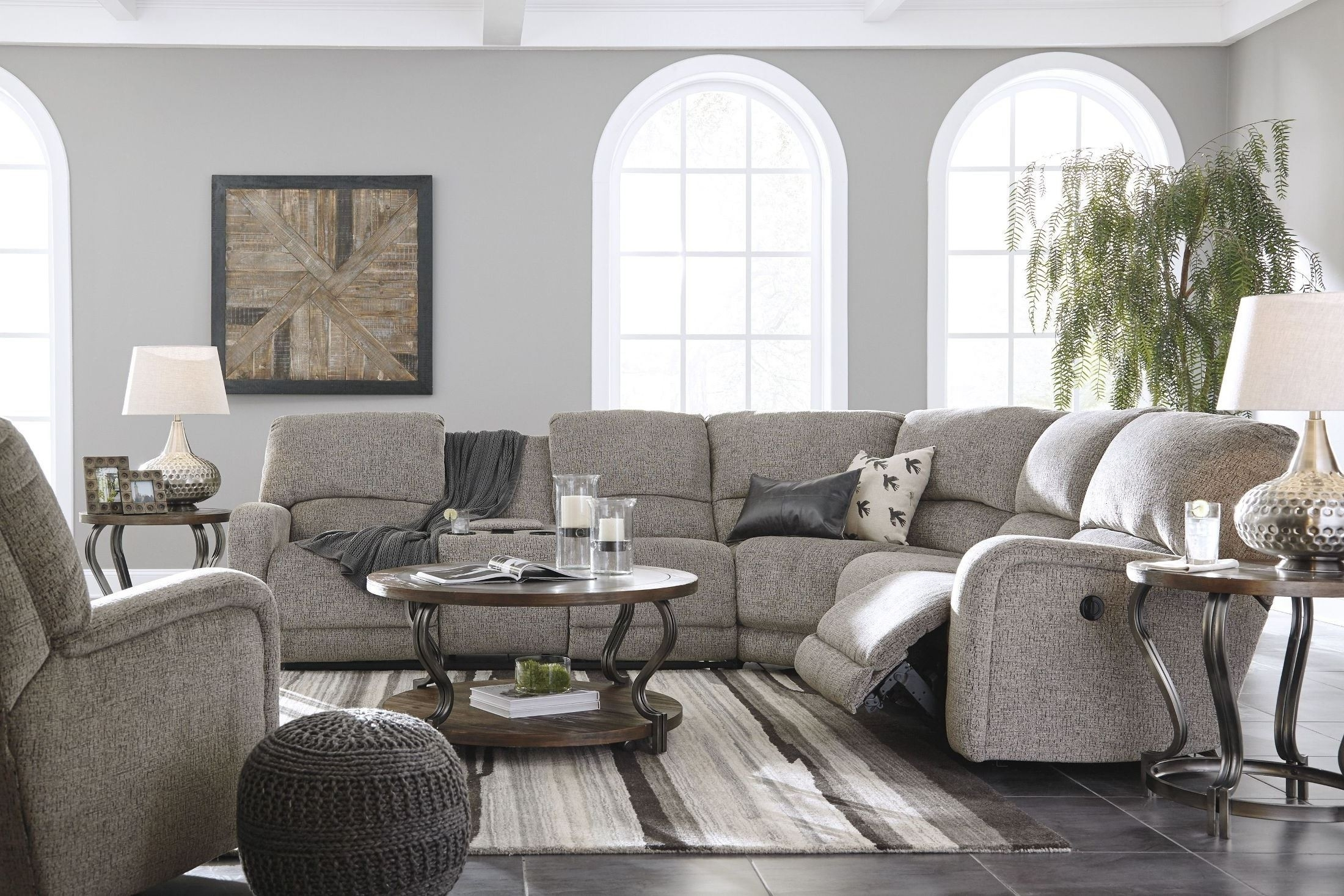 Signature Designashley Pittsfield Fossil Raf Power Reclining within Tess 2 Piece Power Reclining Sectionals With Laf Chaise (Image 21 of 30)