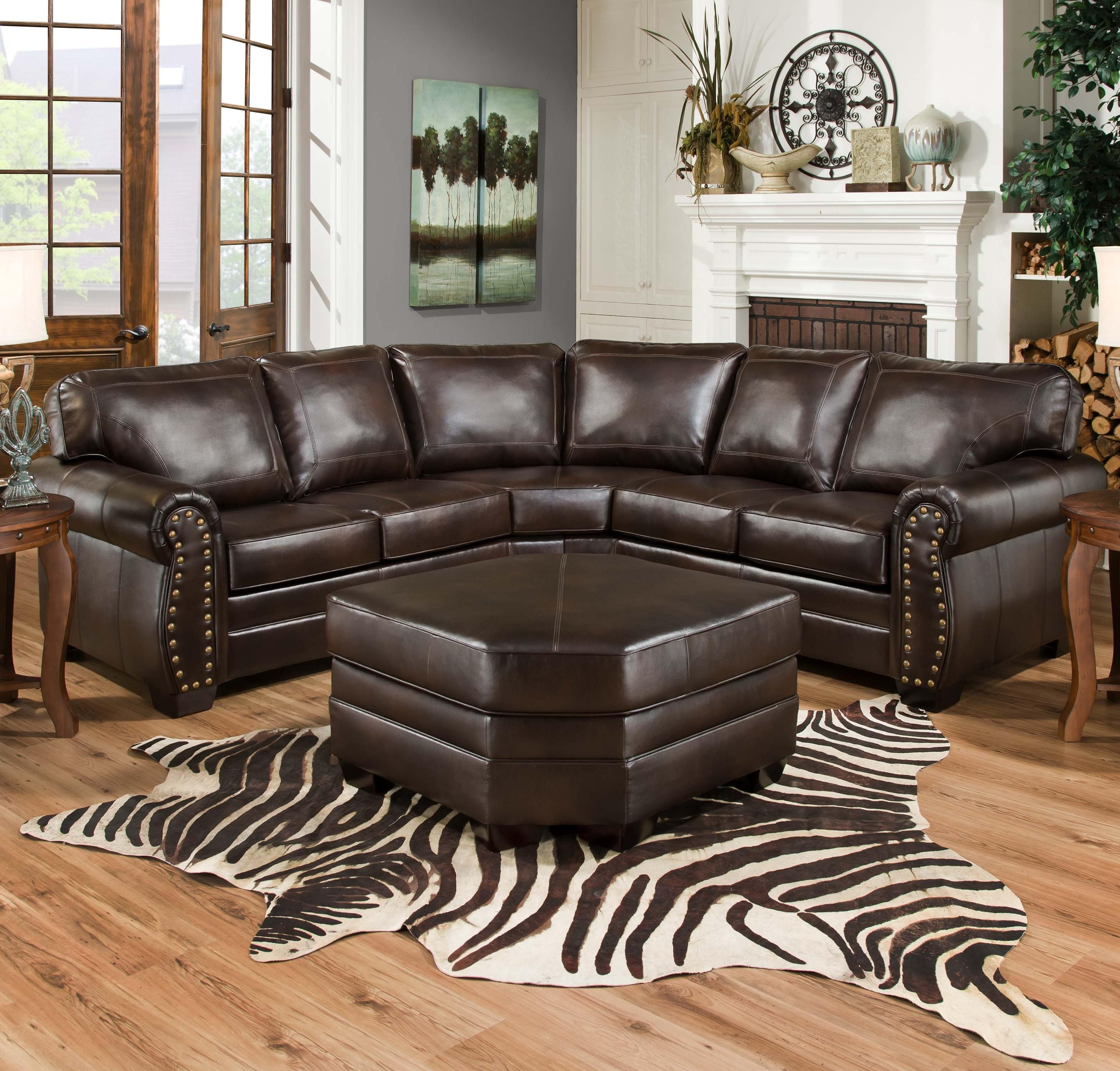 Simmons Upholstery 9222 Traditional Sectional Sofa With Rolled Arms with regard to Aspen 2 Piece Sectionals With Laf Chaise (Image 29 of 30)