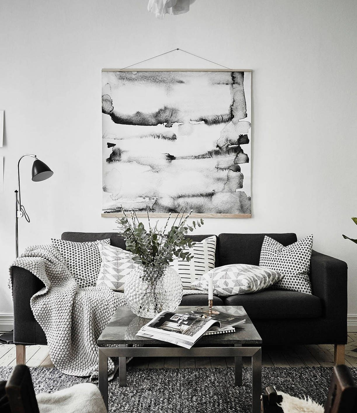 Simple And Cozy | It's All About Interior | Pinterest | Living Room Pertaining To Marius Dark Grey 3 Piece Sectionals (Photo 28 of 30)