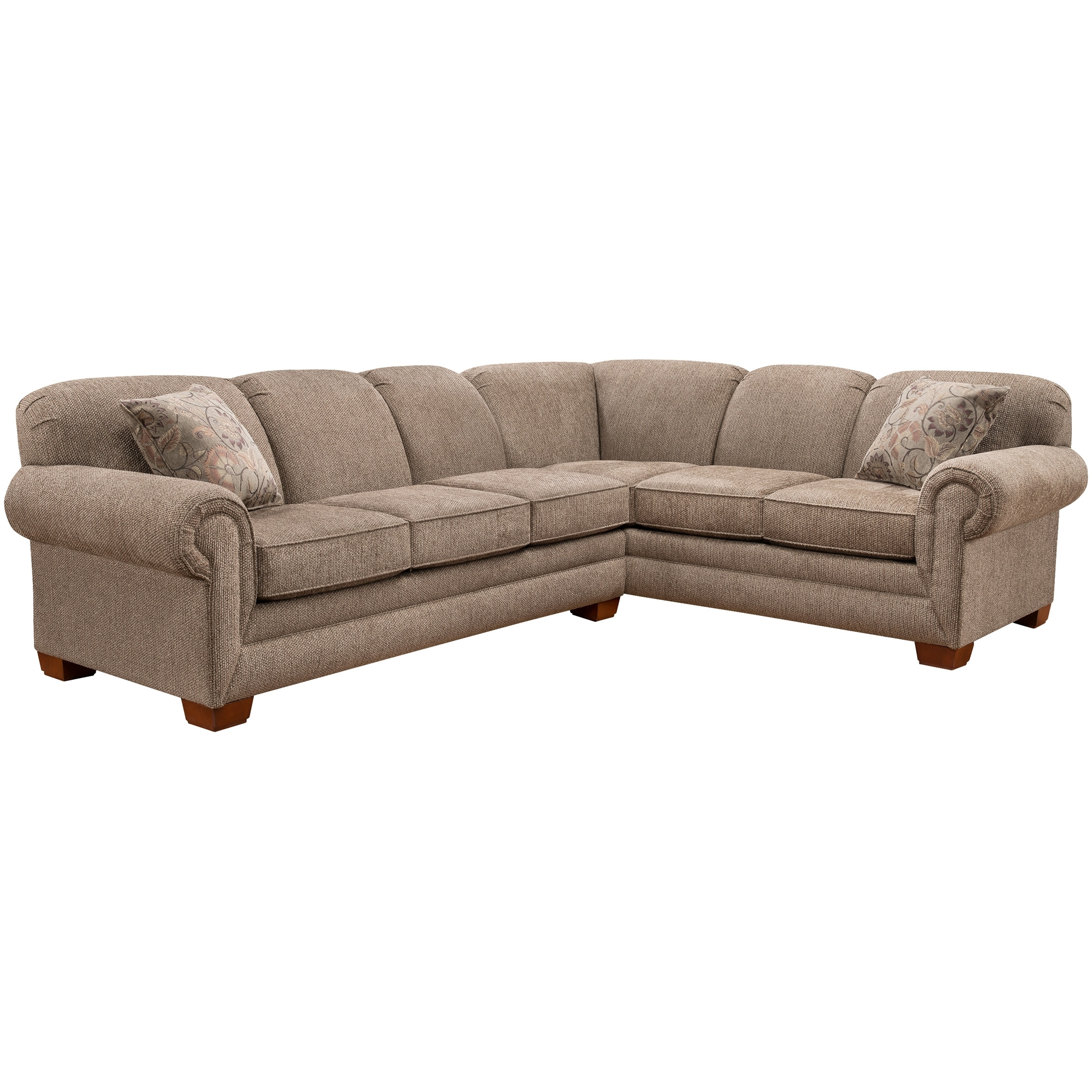 Slumberland Furniture | Tenor 2 Pc Brown Large Sectional pertaining to Harper Foam 3 Piece Sectionals With Raf Chaise (Image 27 of 30)