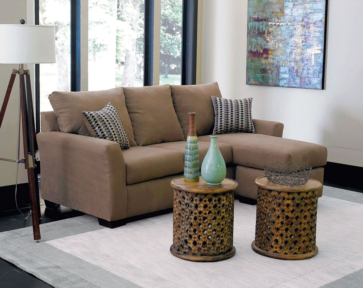 Small Brown Microfiber, Chaise | Montana Mocha 2-Piece Sectional with regard to Elm Grande Ii 2 Piece Sectionals (Image 28 of 30)