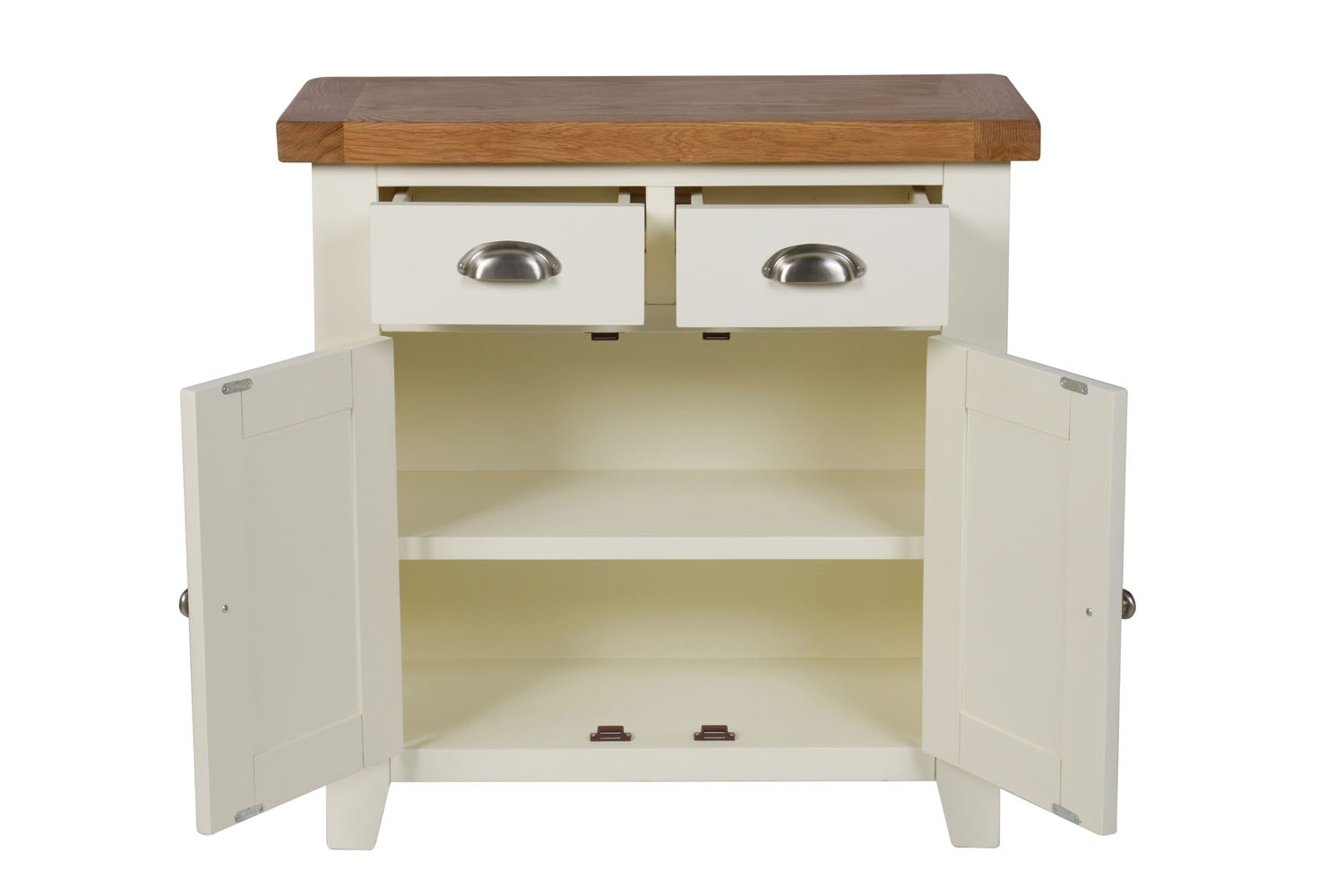 Small Cream Painted Oak Sideboard | 80Cm Country Cottage | Free inside Lockwood Sideboards (Image 27 of 30)