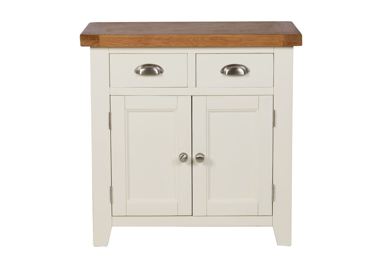 Small Cream Painted Oak Sideboard | 80Cm Country Cottage | Free pertaining to Lockwood Sideboards (Image 28 of 30)