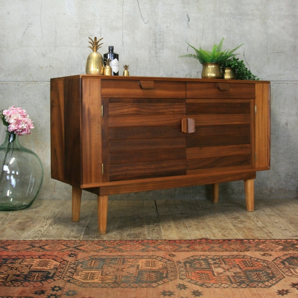 Small Mid Century Walnut Sideboard #3/19 Pedlars pertaining to Walnut Small Sideboards (Image 23 of 30)