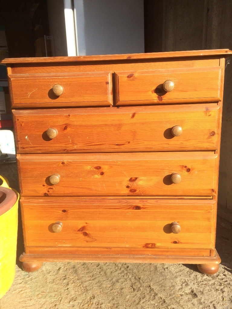 Small Pine Chest Of Drawers | In Cheltenham, Gloucestershire | Gumtree Within Cass 2 Door Sideboards (View 20 of 30)