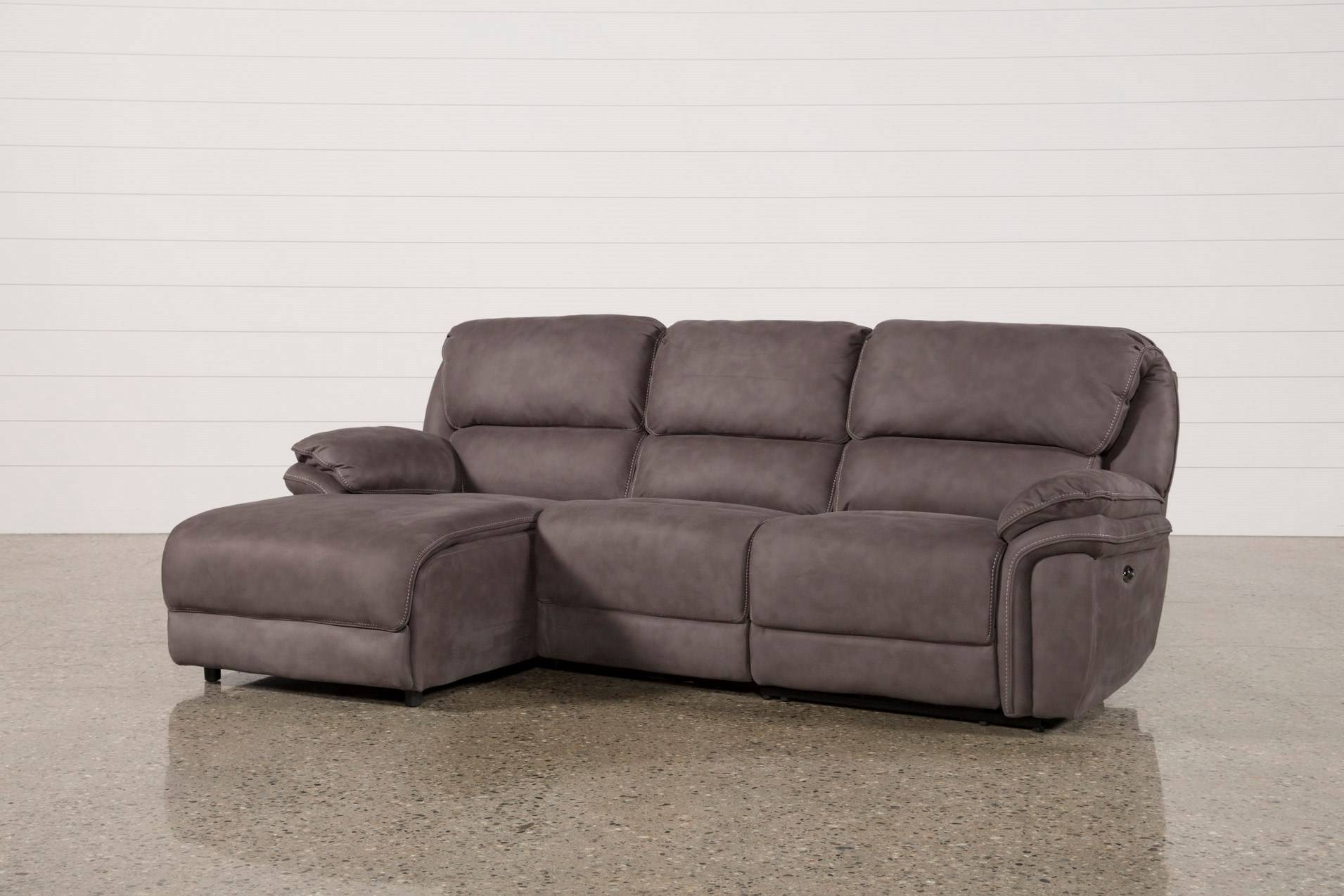 Small Sectional Sofas Living Spaces Couch Locks Norfolk Grey Piece with regard to Avery 2 Piece Sectionals With Laf Armless Chaise (Image 30 of 30)