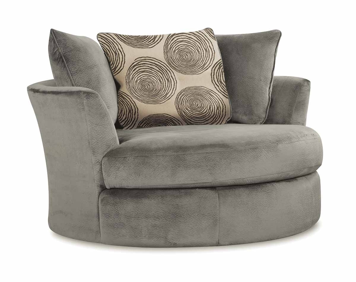 Smoke Gray 2 Piece Microfiber Sectional Sofa | American Freight pertaining to Norfolk Chocolate 6 Piece Sectionals With Raf Chaise (Image 26 of 30)