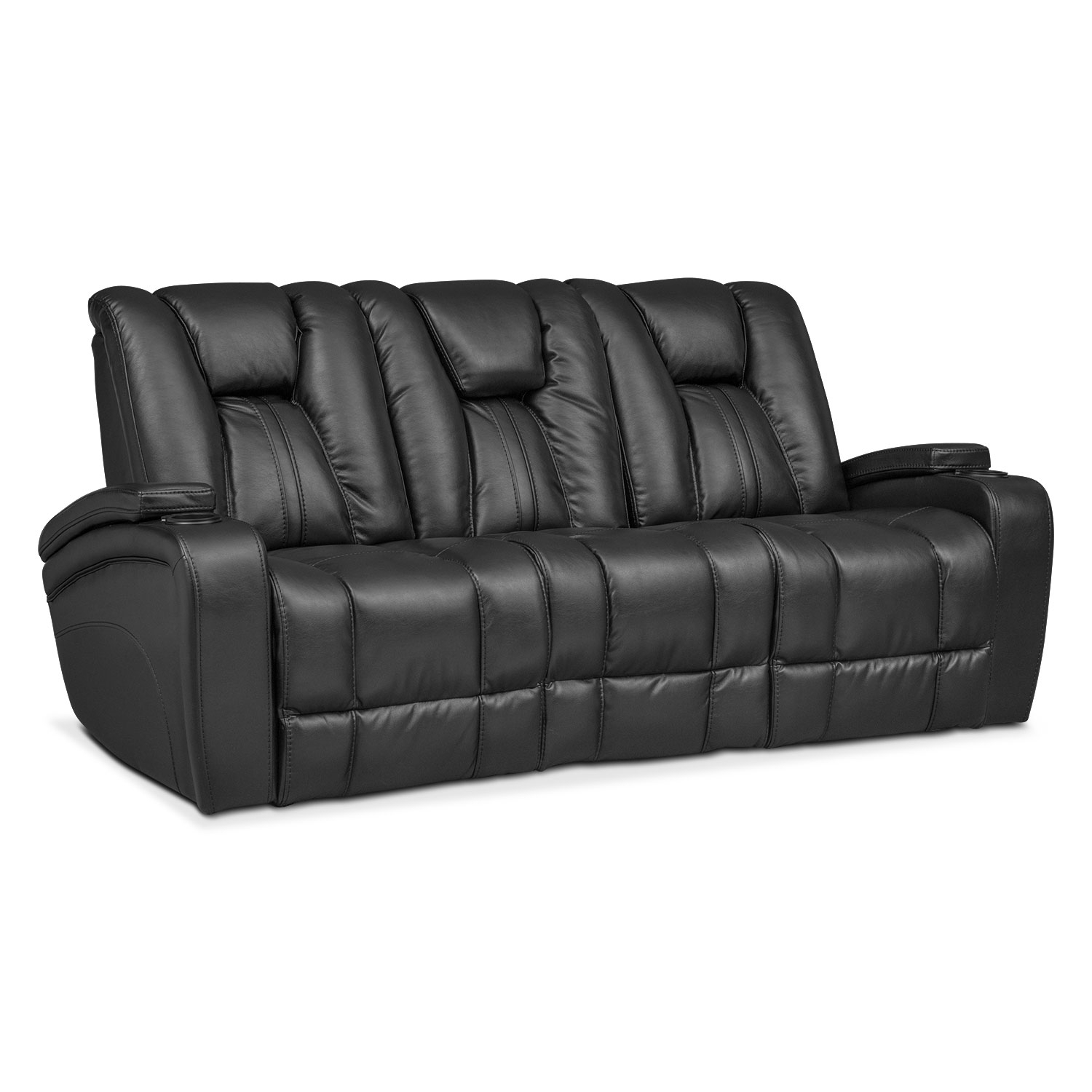 Sofas And Couches | Living Room Seating | Value City Furniture And for Marcus Chocolate 6 Piece Sectionals With Power Headrest and Usb (Image 23 of 30)