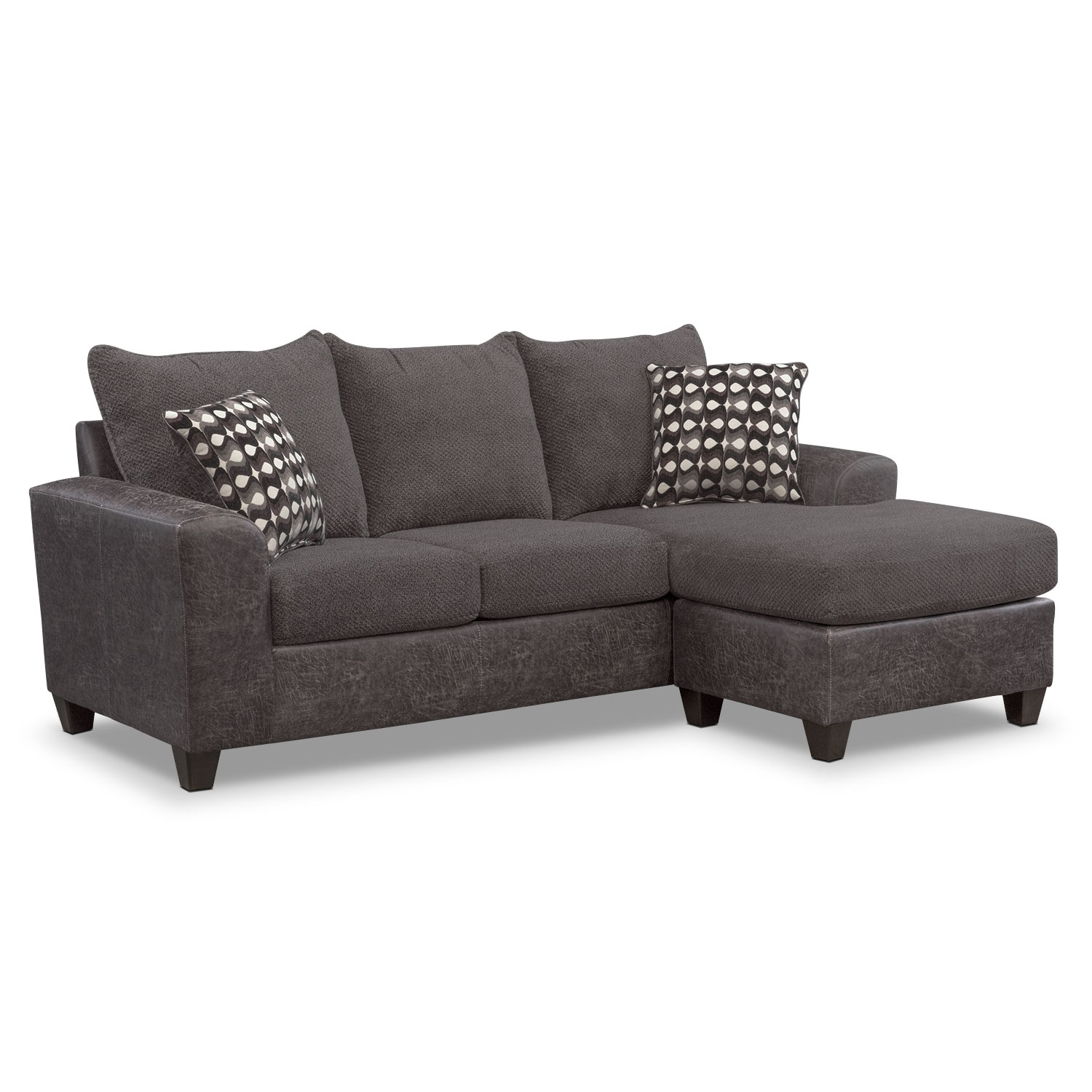 Sofas And Couches | Living Room Seating | Value City Furniture And with Aquarius Dark Grey 2 Piece Sectionals With Raf Chaise (Image 29 of 30)