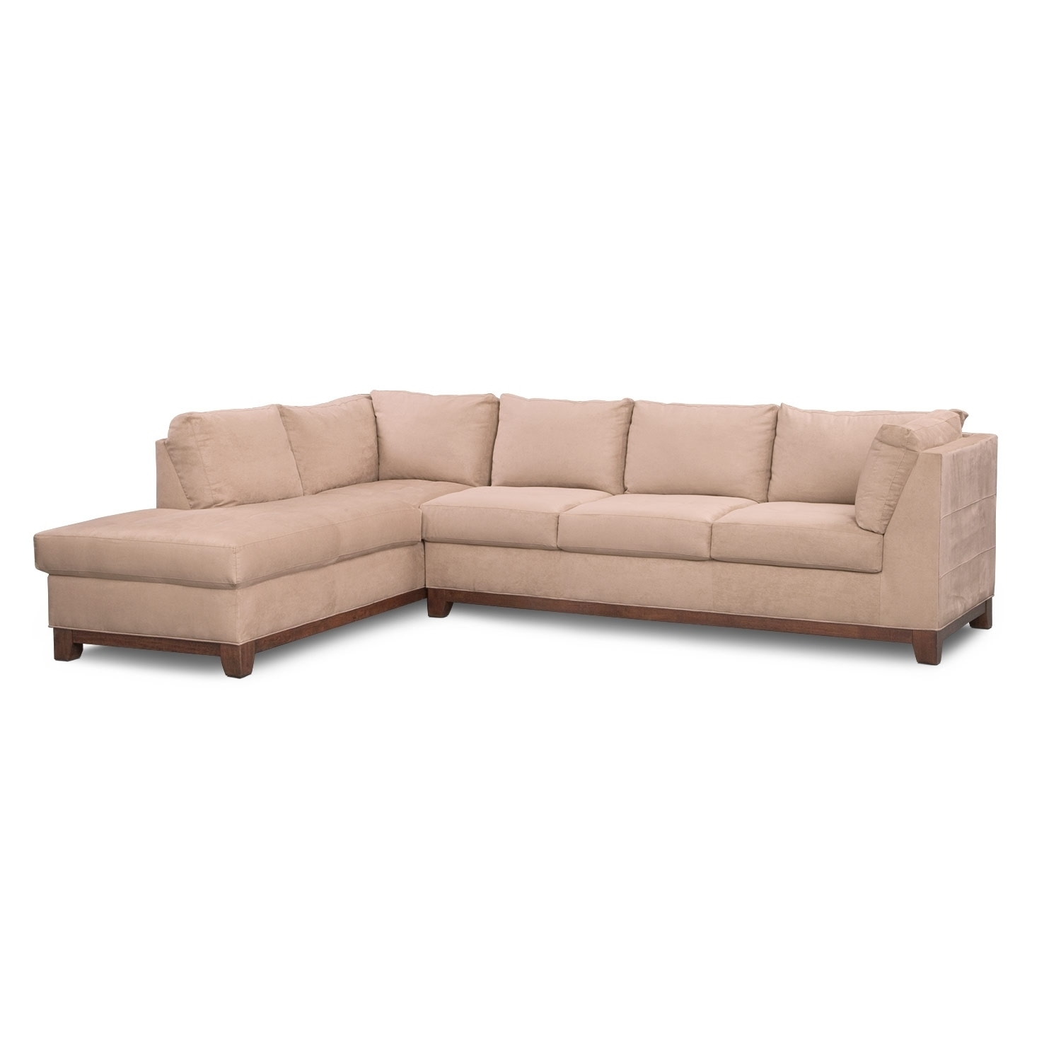 Soho 2-Piece Sectional With Left-Facing Chaise - Cobblestone | Value pertaining to Arrowmask 2 Piece Sectionals With Sleeper & Right Facing Chaise (Image 27 of 30)
