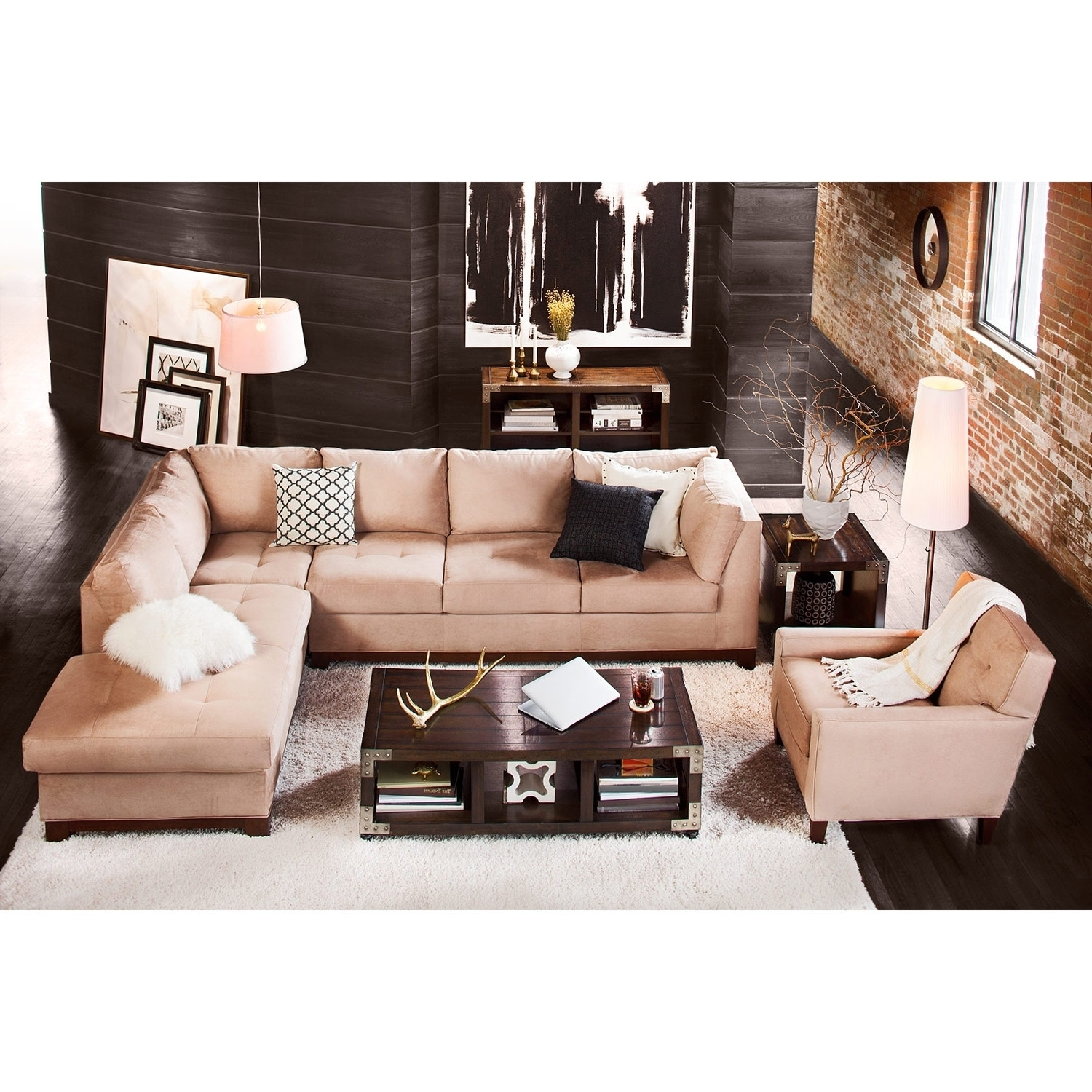 Soho 2-Piece Sectional With Left-Facing Chaise - Cobblestone | Value with Arrowmask 2 Piece Sectionals With Sleeper & Right Facing Chaise (Image 28 of 30)