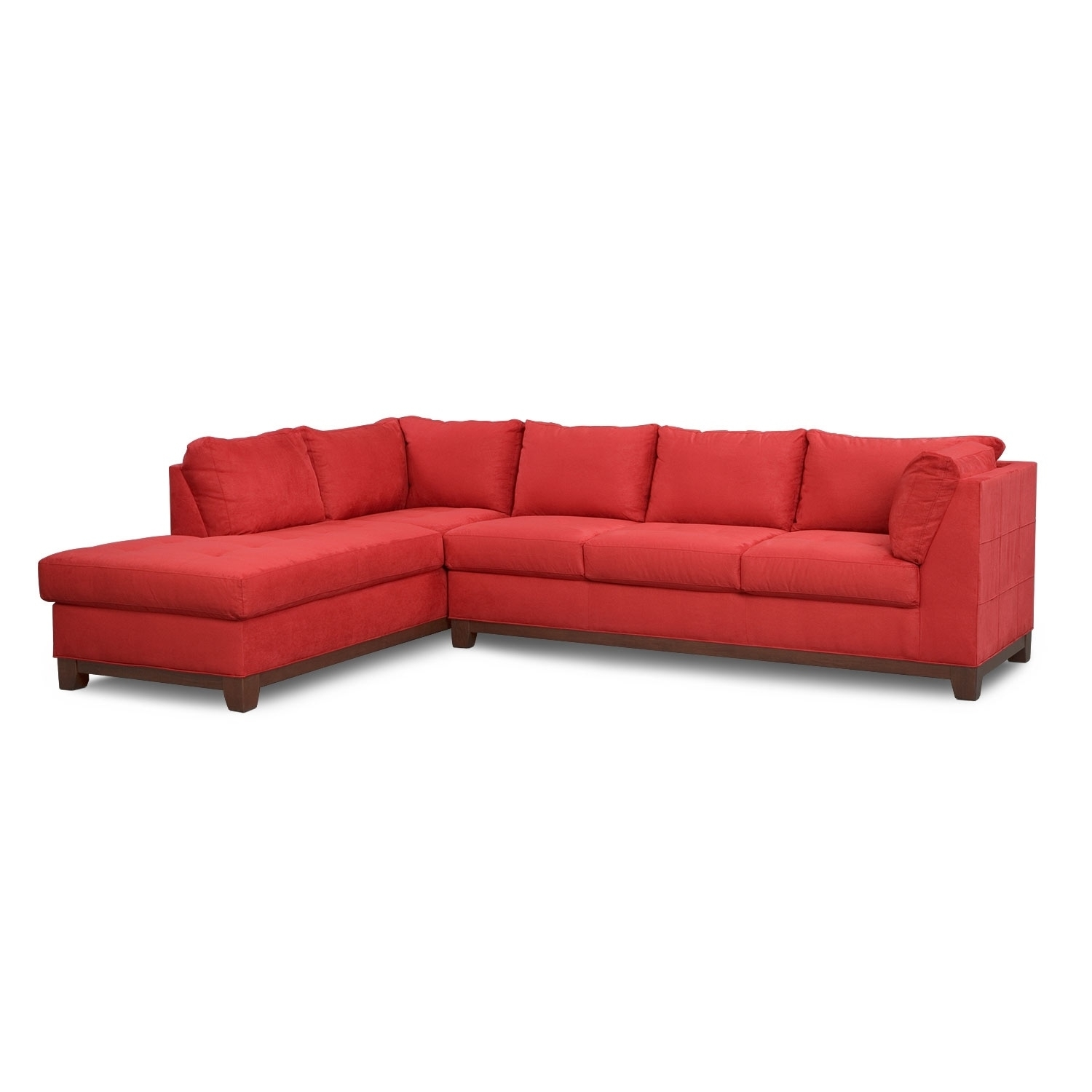 Soho 2-Piece Sectional With Left-Facing Chaise - Red | Value City in Haven 3 Piece Sectionals (Image 30 of 32)