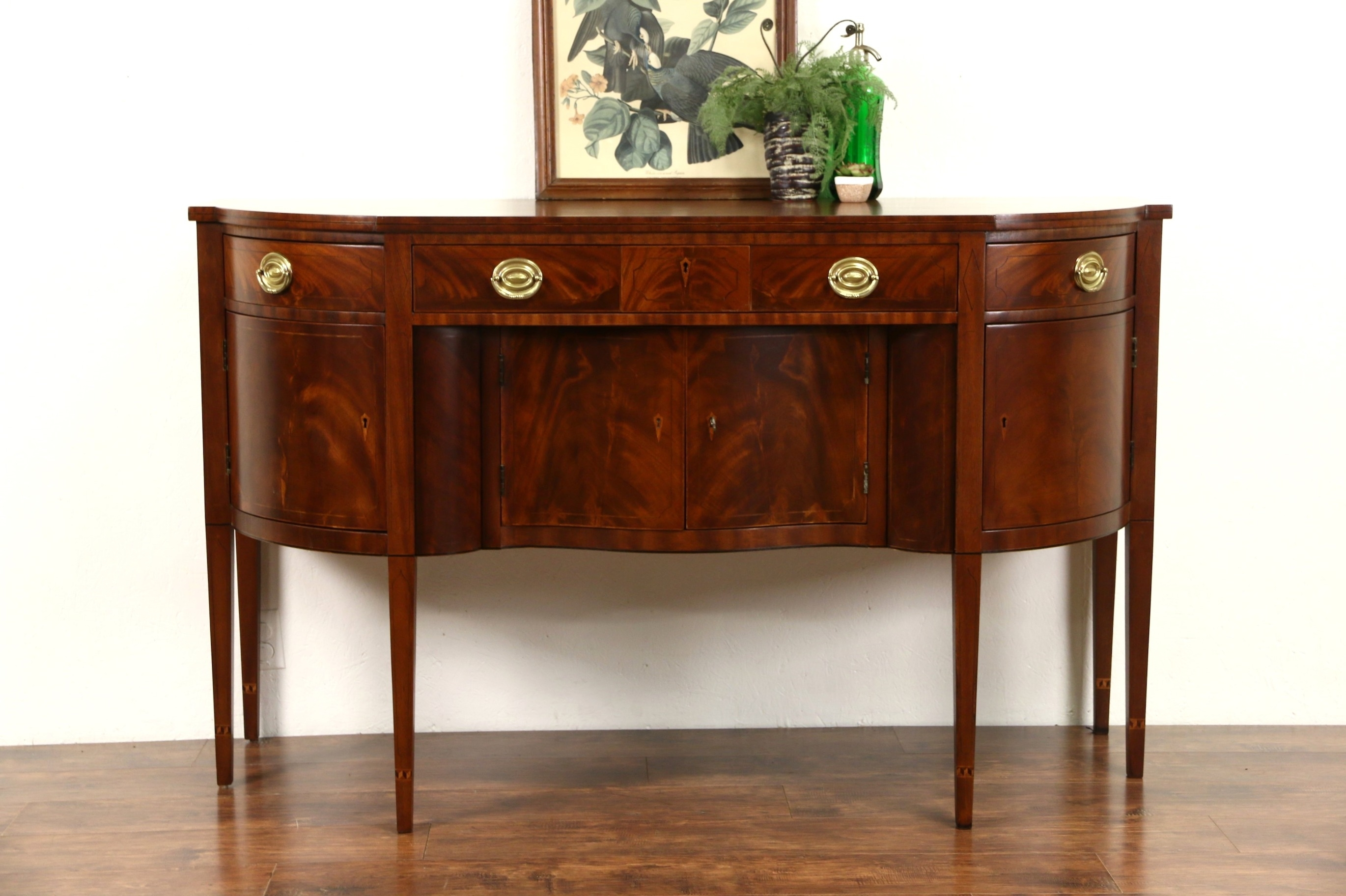 Sold - Henredon Natchez Collection Vintage Mahogany Sideboard within Vintage Brown Textured Sideboards (Image 17 of 30)