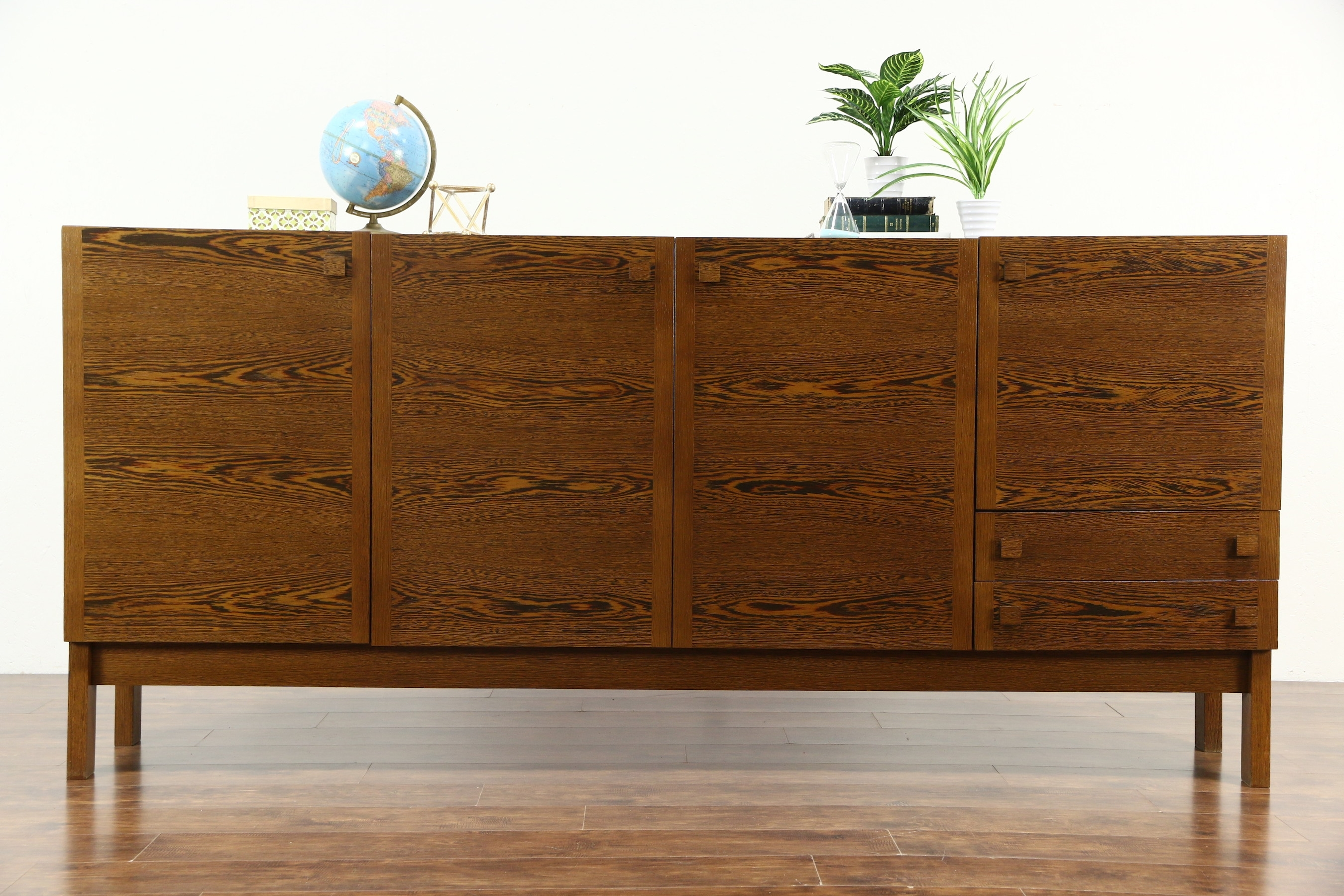 Sold - Midcentury Danish Modern Panga Panga 60's Vintage Sideboard for Vintage Brown Textured Sideboards (Image 18 of 30)