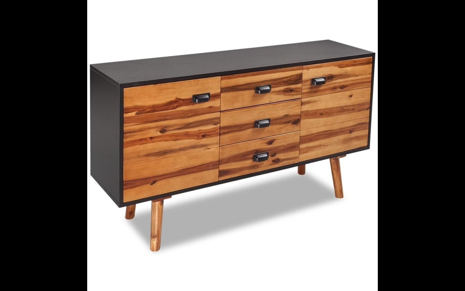 Solid Acacia Wood Sideboard   Buffet, Hutches & Sideboards For Sale throughout Jaxon Sideboards (Image 27 of 30)