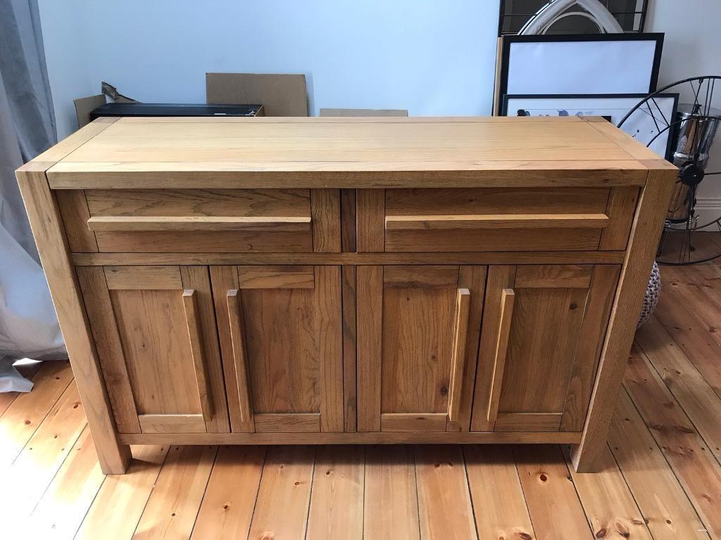 Solid Oak Sideboard | In Killingworth, Tyne And Wear | Gumtree regarding Dark Smoked Oak With White Marble Top Sideboards (Image 27 of 30)