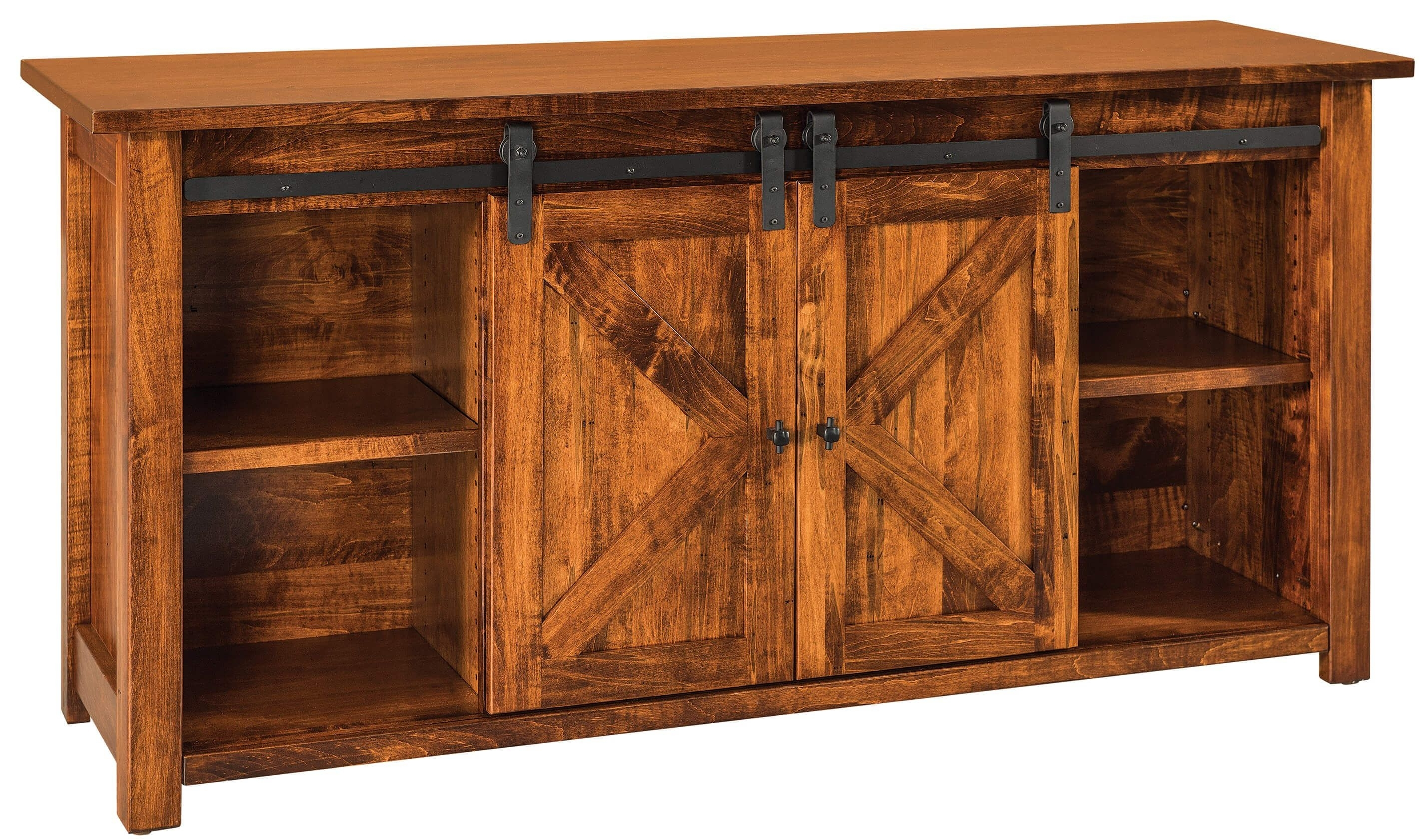 Solid Wood Buffets & Servers & Sideboards - Countryside Amish Furniture in Vintage Finish 4-Door Sideboards (Image 25 of 30)