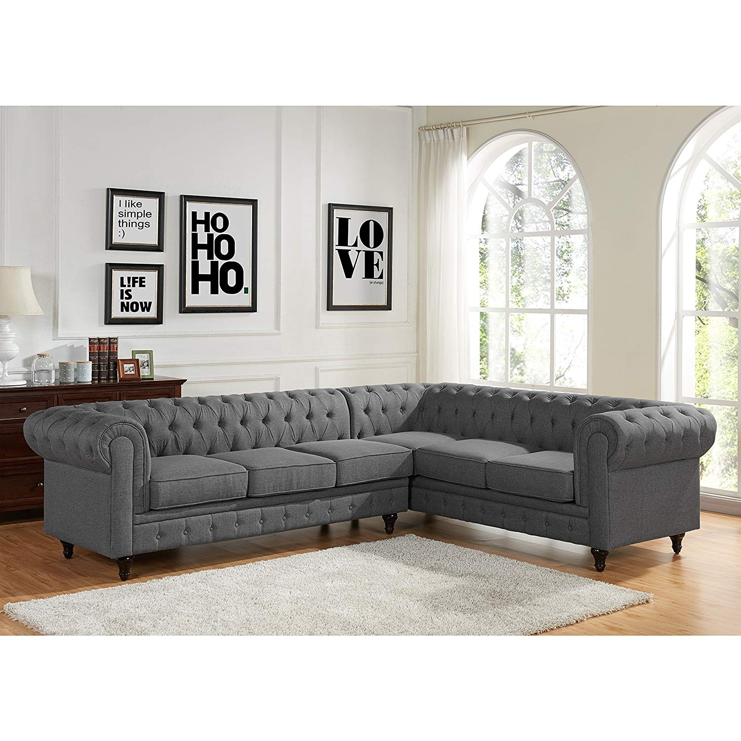 Sophia Oversized Chaise Sectional Sofa Fresh Amazon Us Pride regarding Egan Ii Cement Sofa Sectionals With Reversible Chaise (Image 26 of 30)