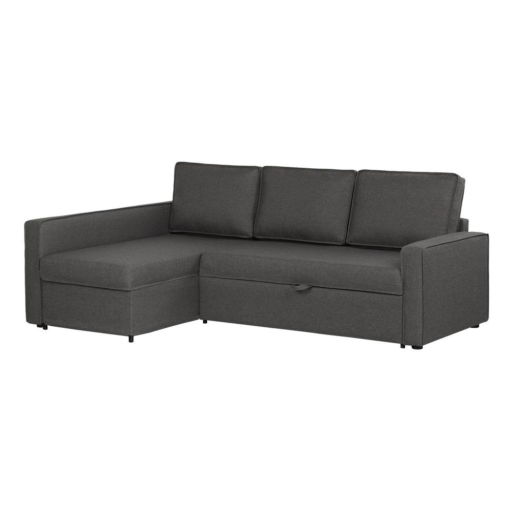 South Shore Live-It Cozy 2-Piece Charcoal Gray Sectional-100307 within Jobs Oat 2 Piece Sectionals With Left Facing Chaise (Image 28 of 30)