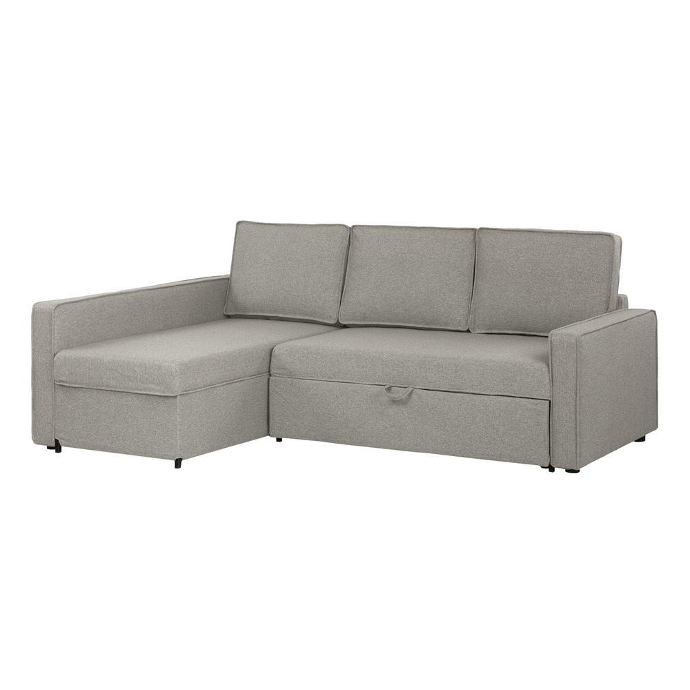 South Shore Live-It Cozy 2-Piece Gray Fog Sectional-100308 - The regarding Jobs Oat 2 Piece Sectionals With Left Facing Chaise (Image 29 of 30)