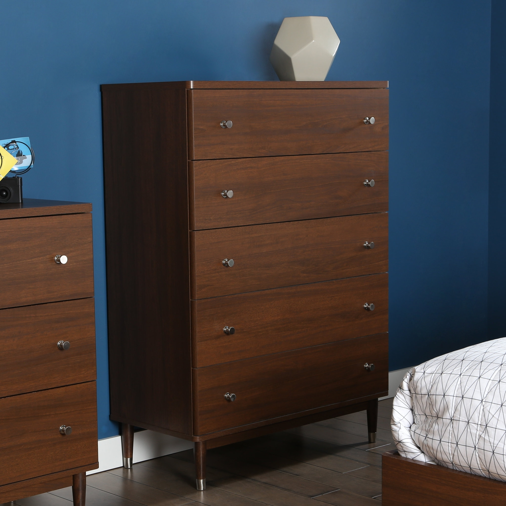 South Shore Olly Mid-Century 5 Drawer Chest & Reviews | Wayfair inside Moraga Live Edge 8 Door Sideboards (Image 28 of 30)