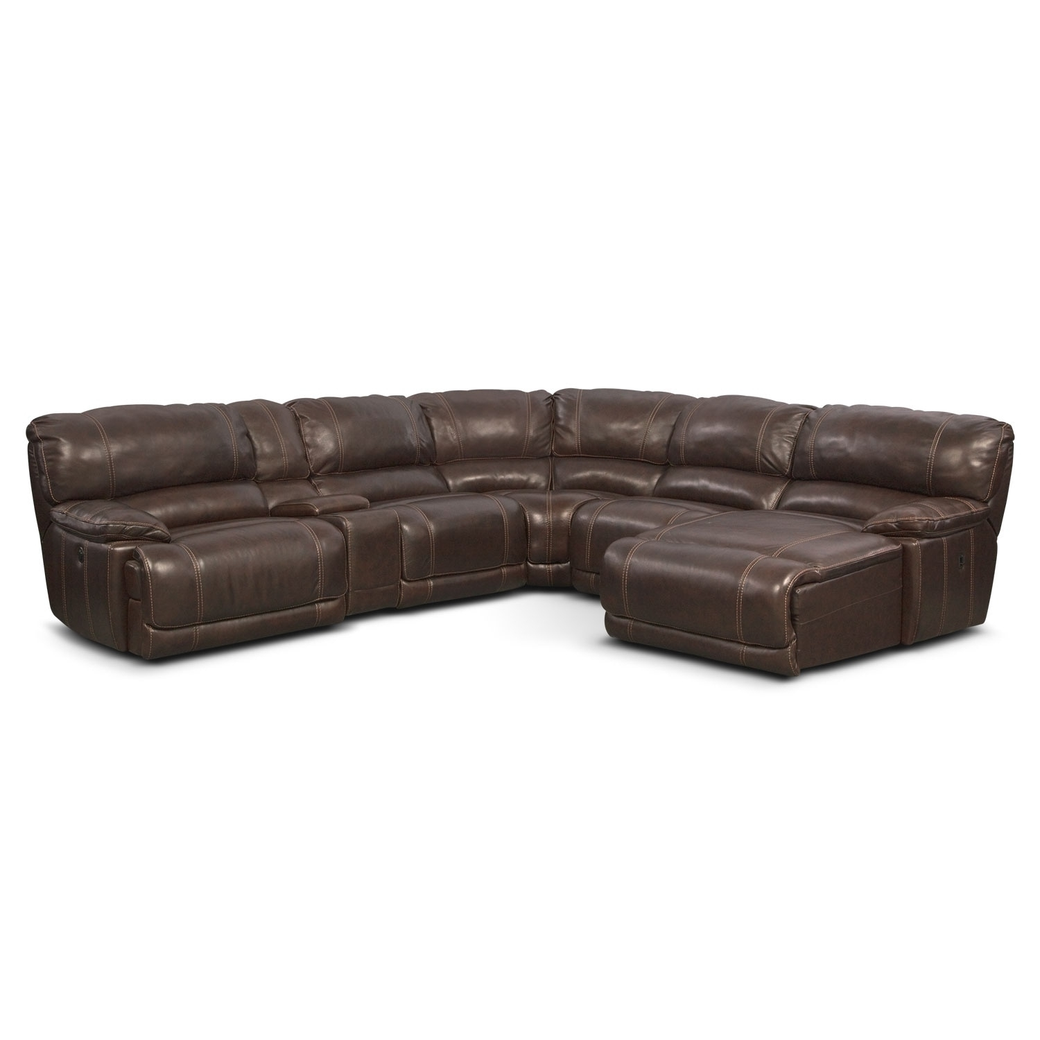 St. Malo 6-Piece Power Reclining Sectional With Right-Facing Chaise for Meyer 3 Piece Sectionals With Laf Chaise (Image 27 of 30)