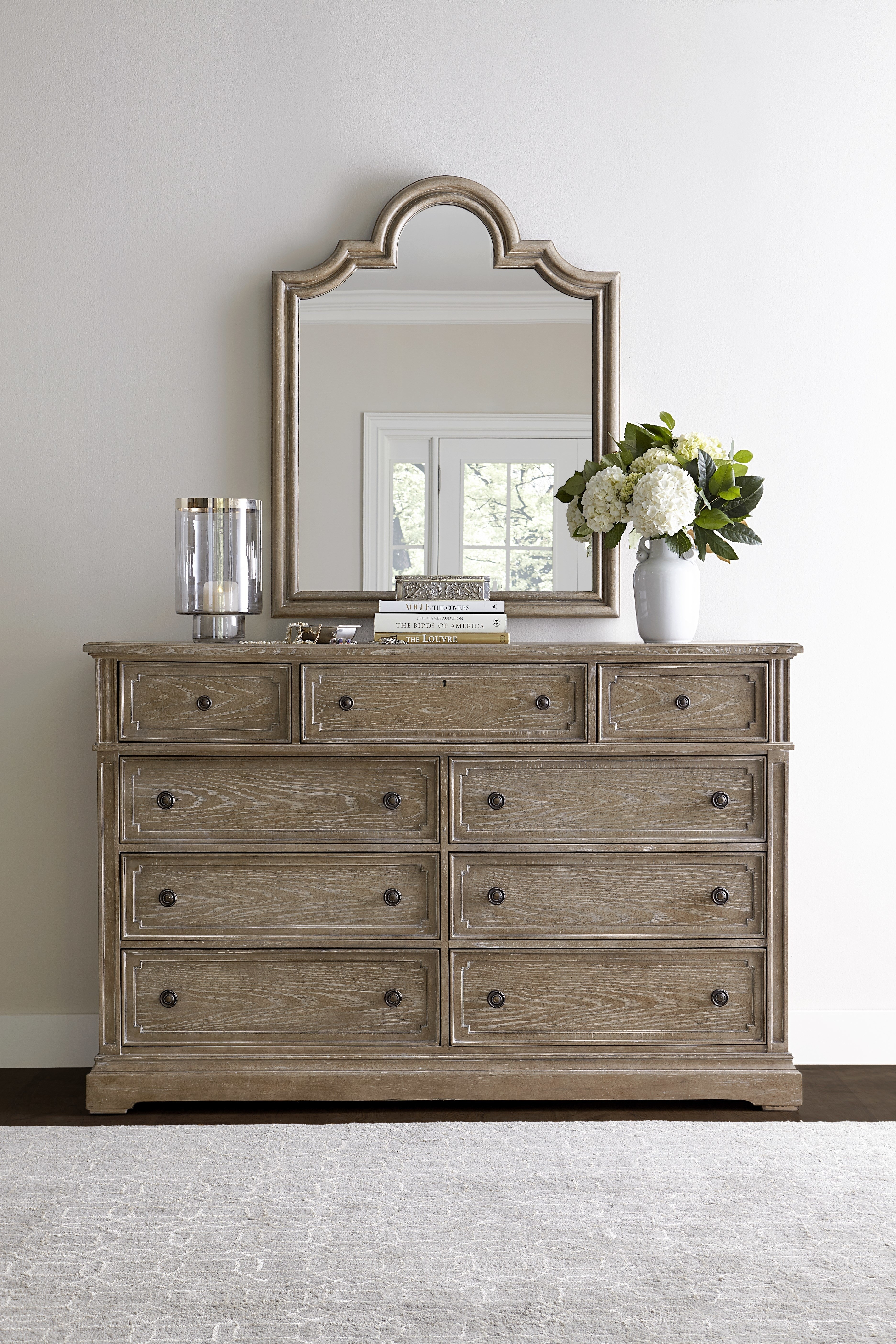 Stanley Wethersfield Estate 9 Drawer Dresser With Mirror & Reviews with regard to Helms Sideboards (Image 28 of 30)