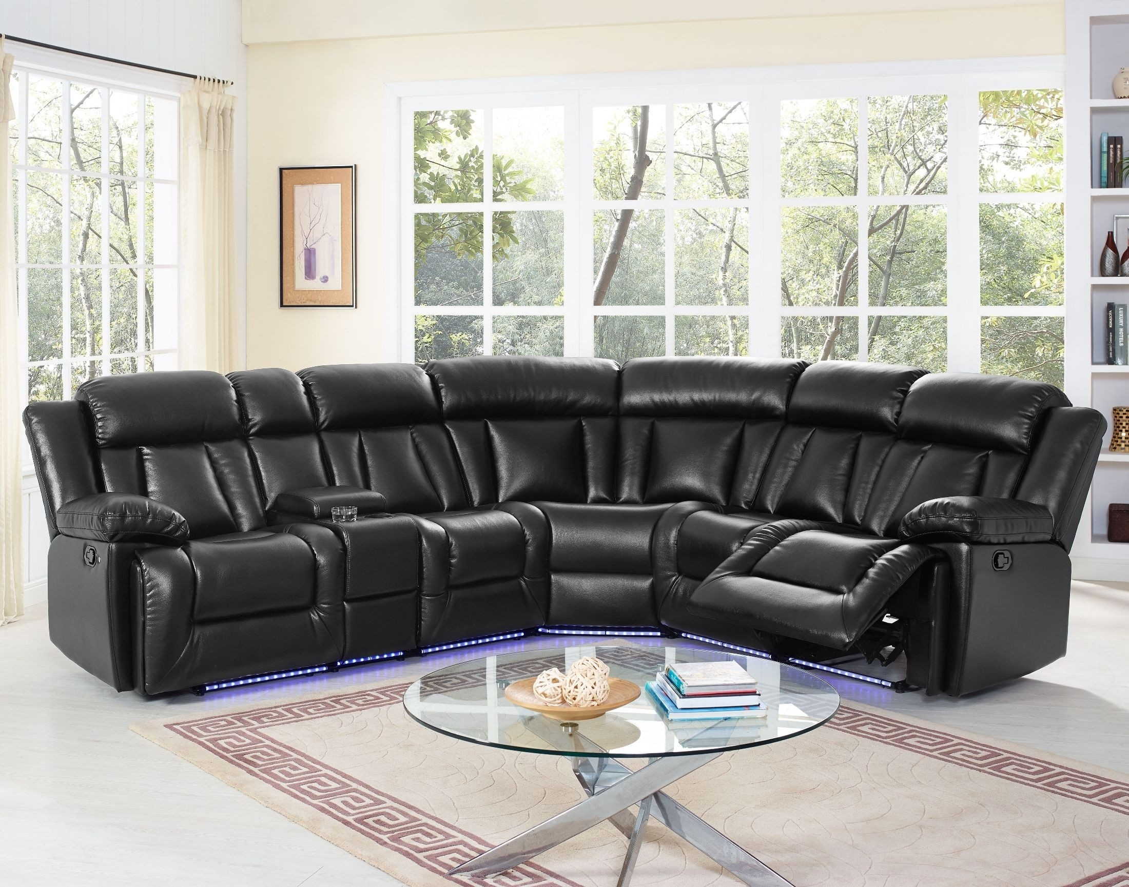 Starlight Premier Black Sectional From New Classic | Coleman Furniture for Turdur 2 Piece Sectionals With Laf Loveseat (Image 25 of 30)