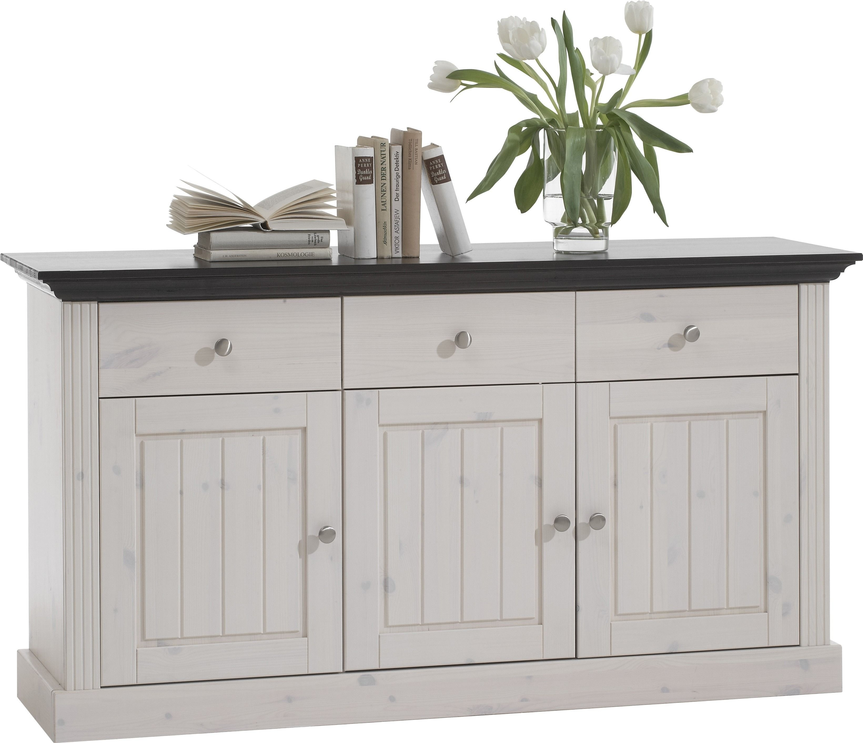 Featured Photo of White Wash 3 Door 3 Drawer Sideboards