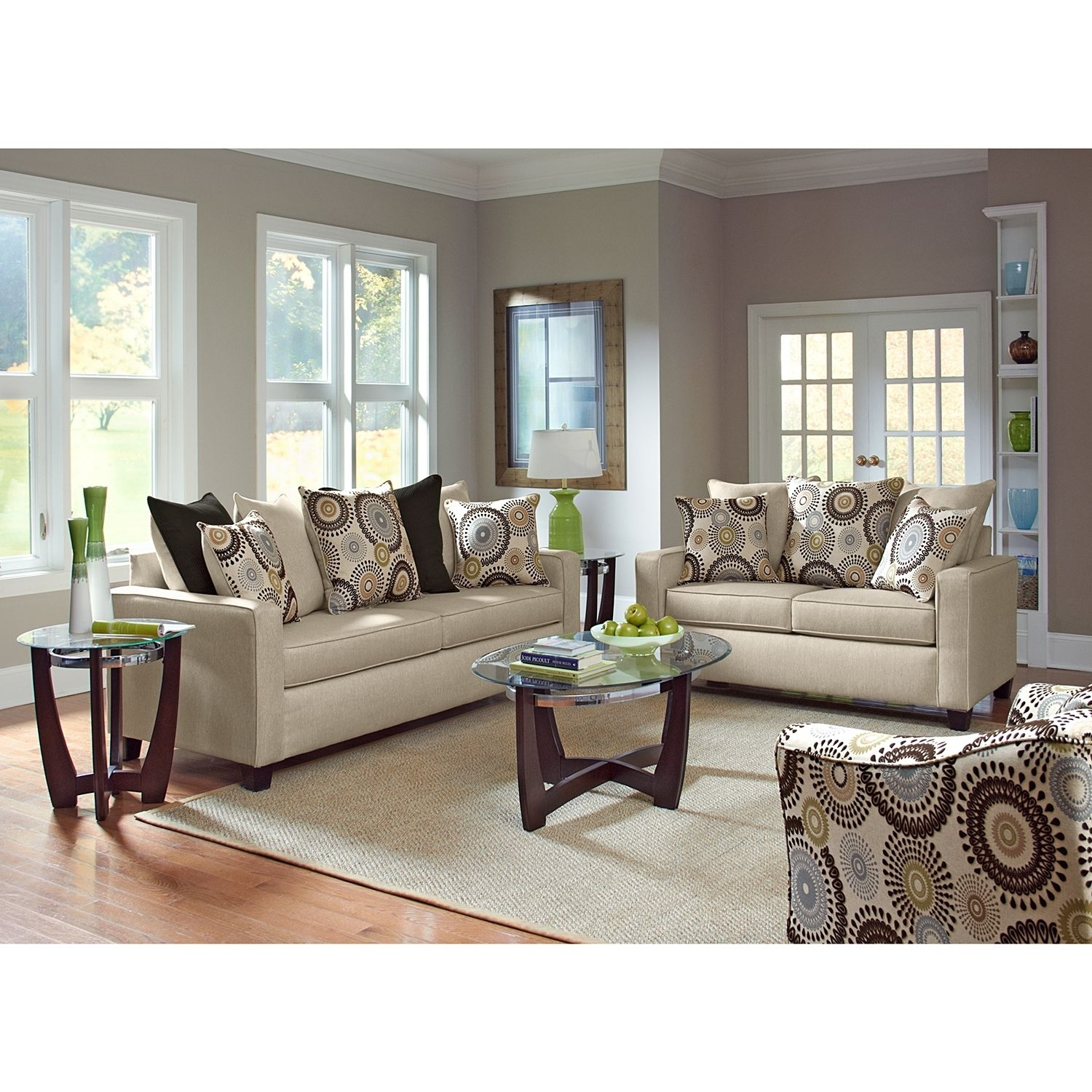 Stoked Upholstery 3 Pc. Living Room - Value City Furniture | Home with regard to Turdur 2 Piece Sectionals With Laf Loveseat (Image 26 of 30)