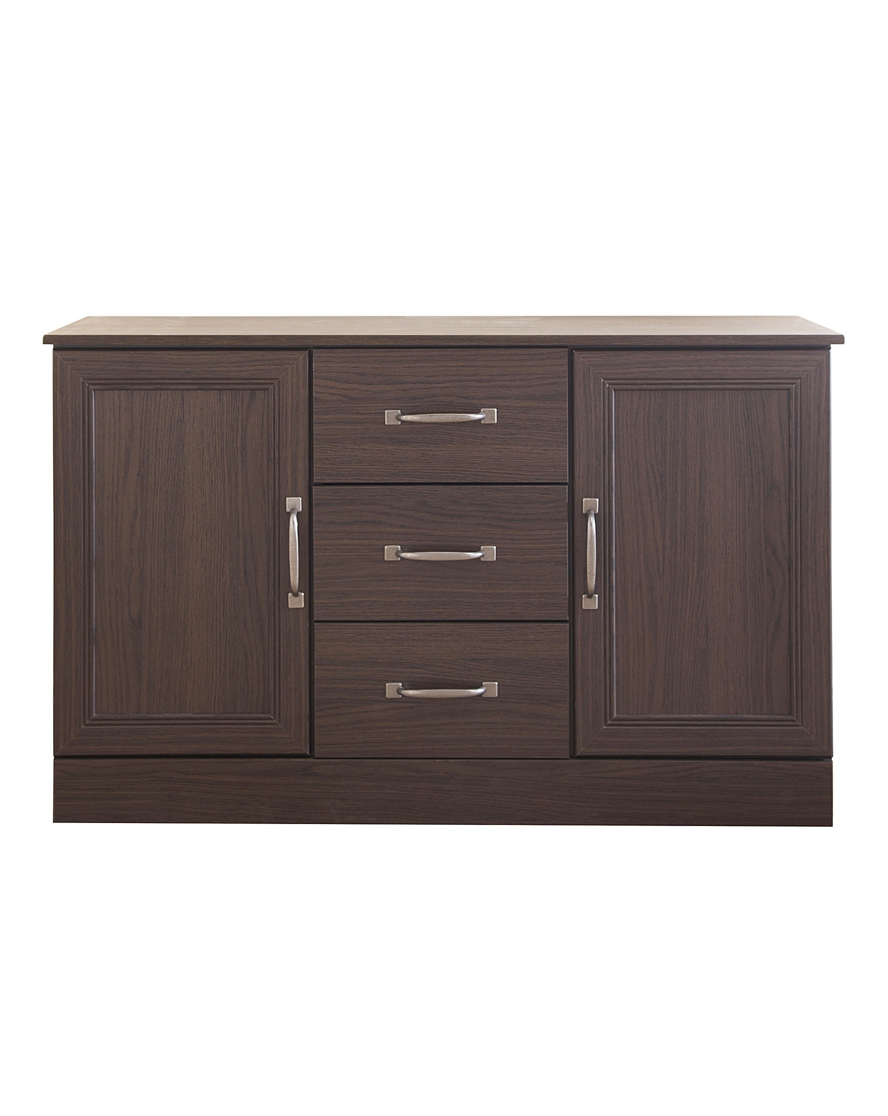 Stowe 2 Door 3 Drawer Sideboard | Fashion World in Antique Walnut Finish 2-Door/4-Drawer Sideboards (Image 27 of 30)